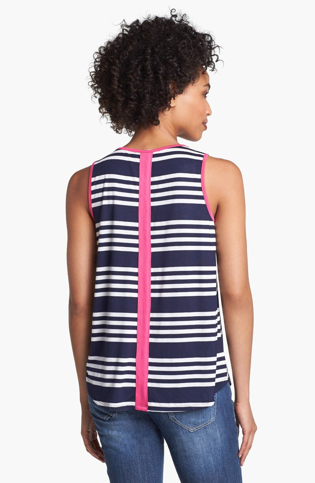 Alternate Image 2  - Olivia Moon Contrast Trim Stripe Tank
