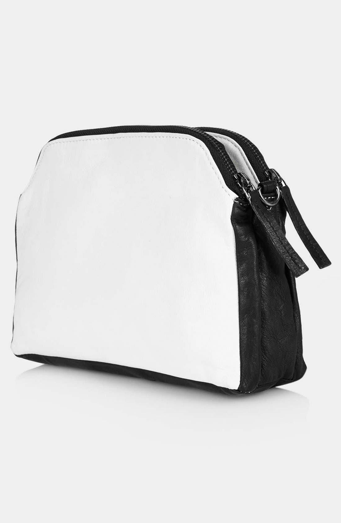 Alternate Image 2  - Topshop Double Zip Crossbody Bag