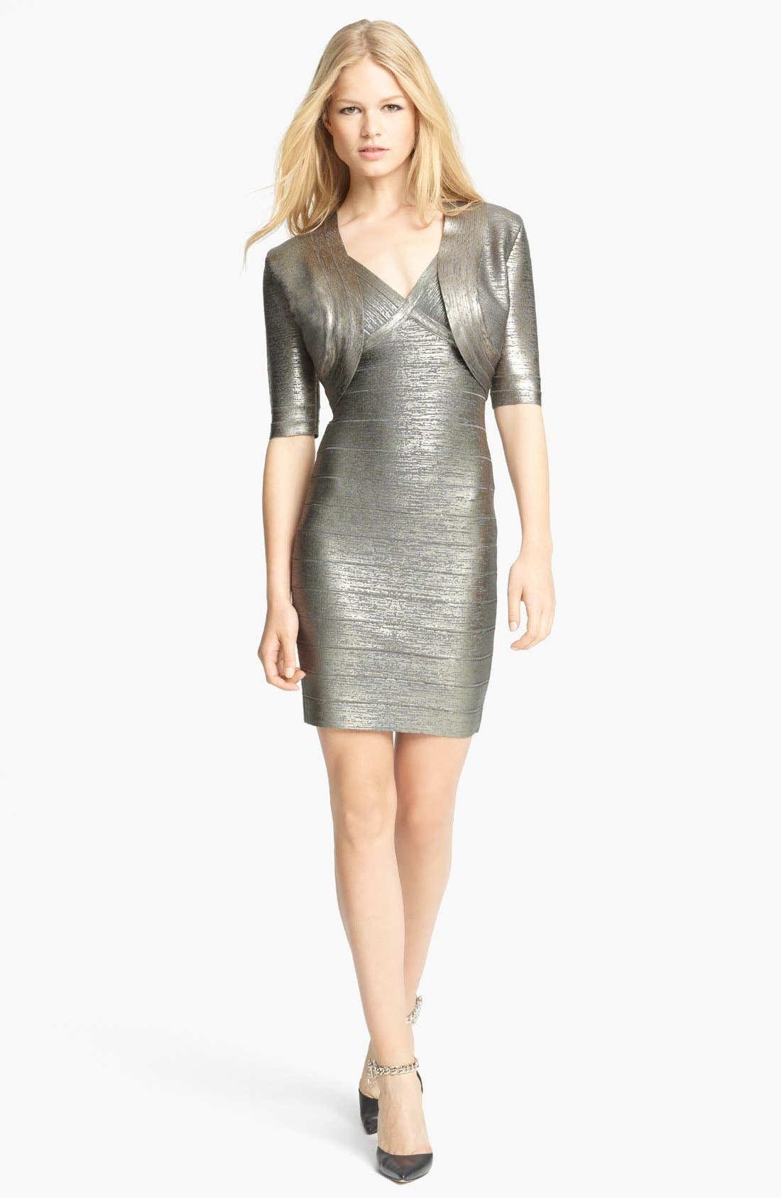 Main Image - Herve Leger Shrug & Dress