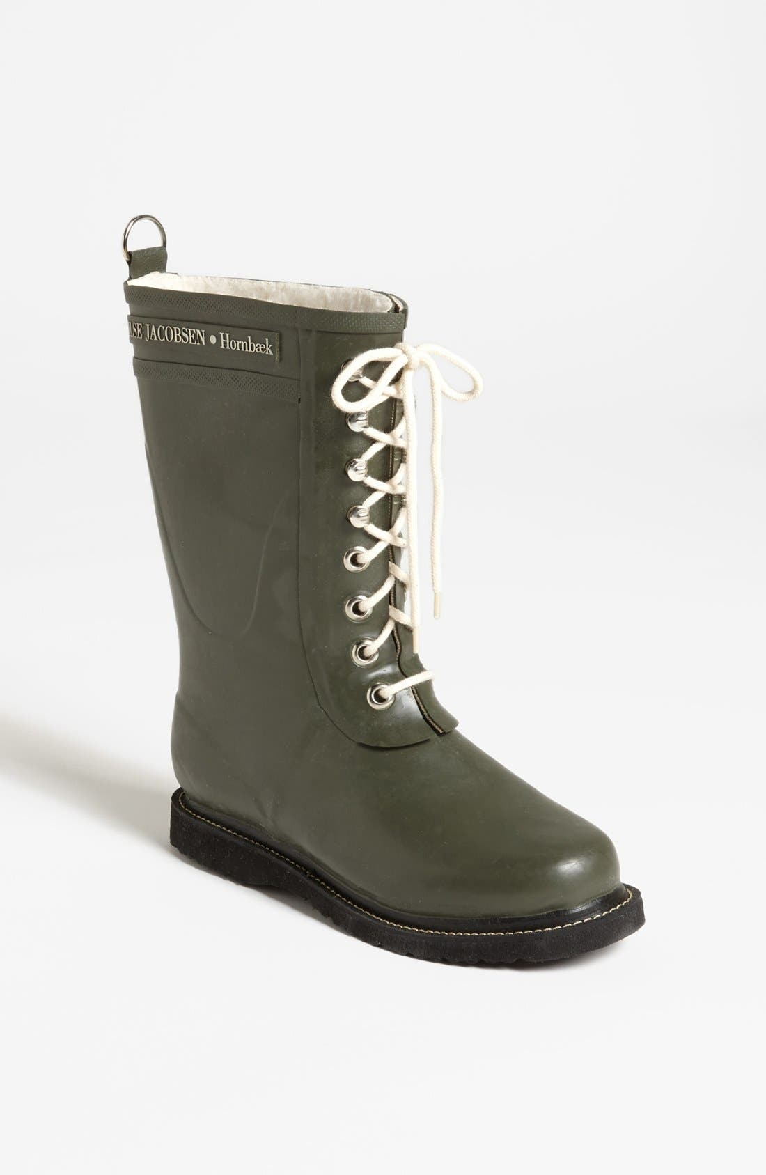 ILSE JACOBSEN Rubber Waterproof Boot in Army