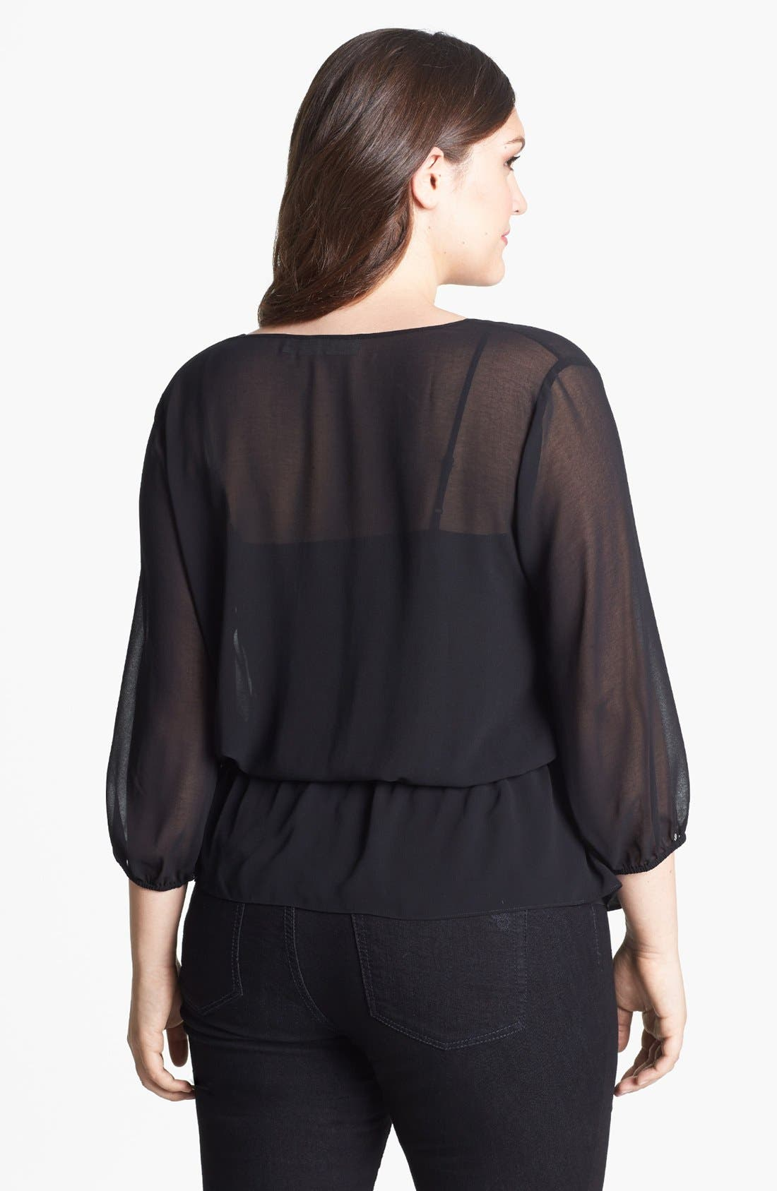 Alternate Image 2  - Sejour Chiffon Tunic (Plus Size)