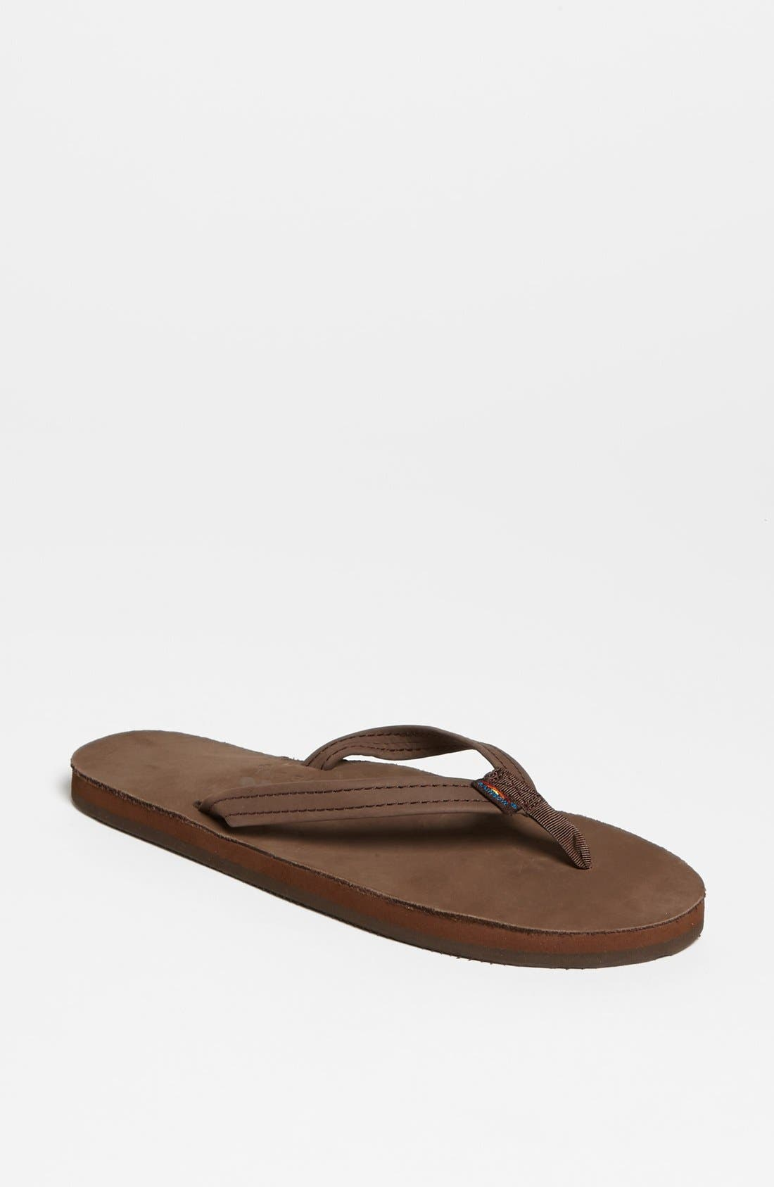 Narrow Strap Sandal,                         Main,                         color, Expresso