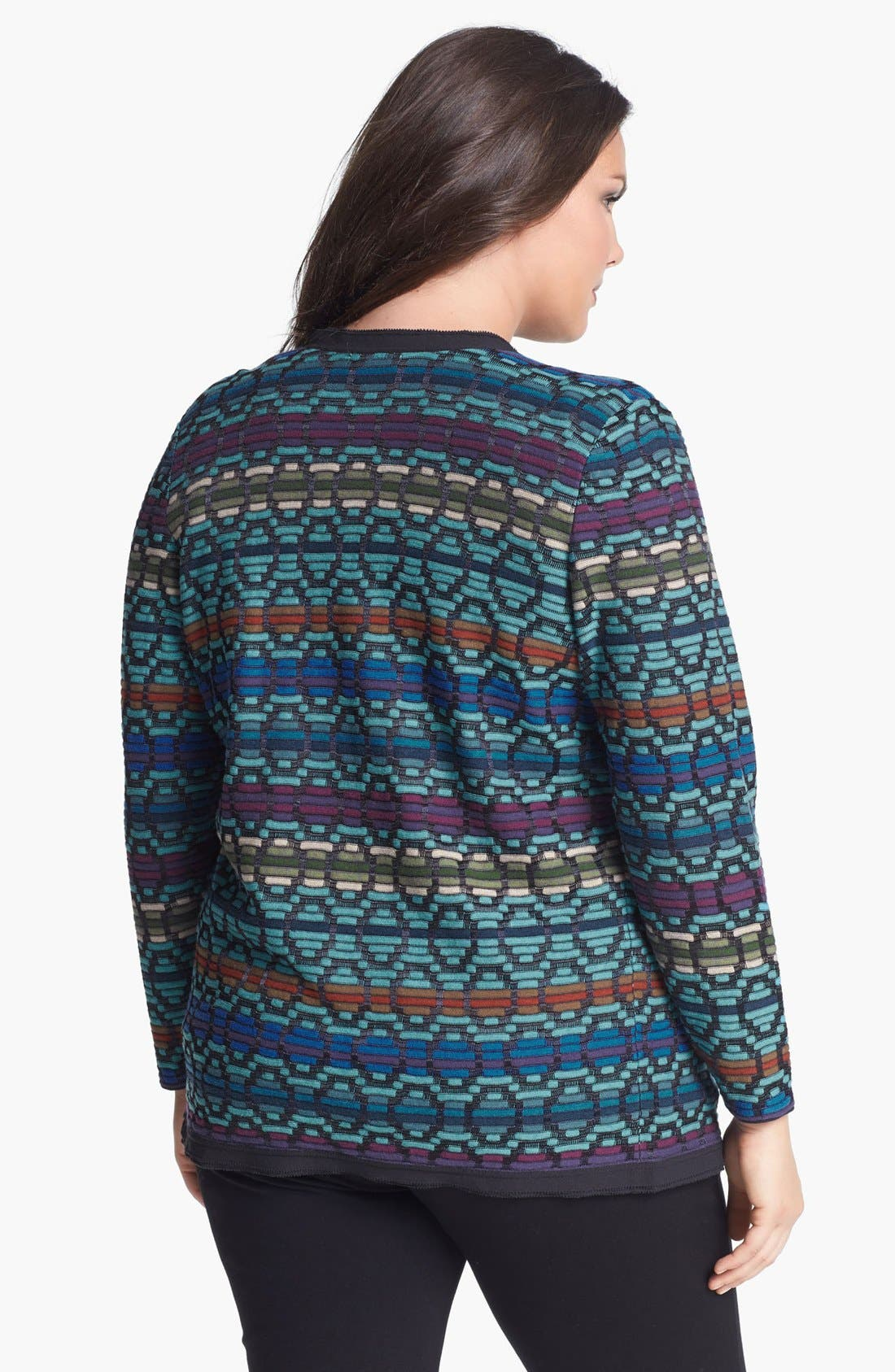 Alternate Image 2  - NIC+ZOE 'Dots & Dashes' Drape Front Cardigan (Plus Size)