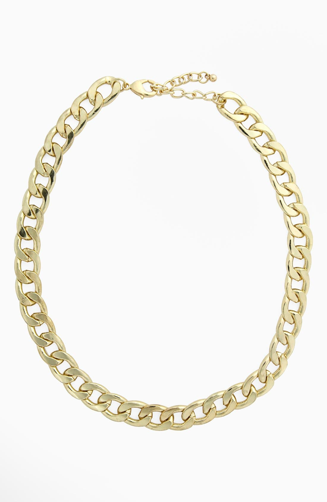 Main Image - Kool Konnections Chunky Chain Necklace (Juniors)