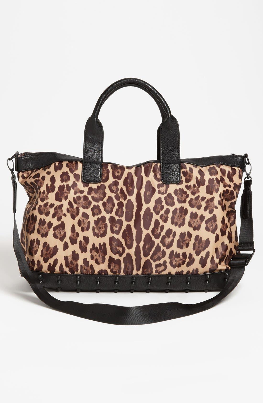 Alternate Image 4  - Steven by Steve Madden Leopard Print Duffel Bag