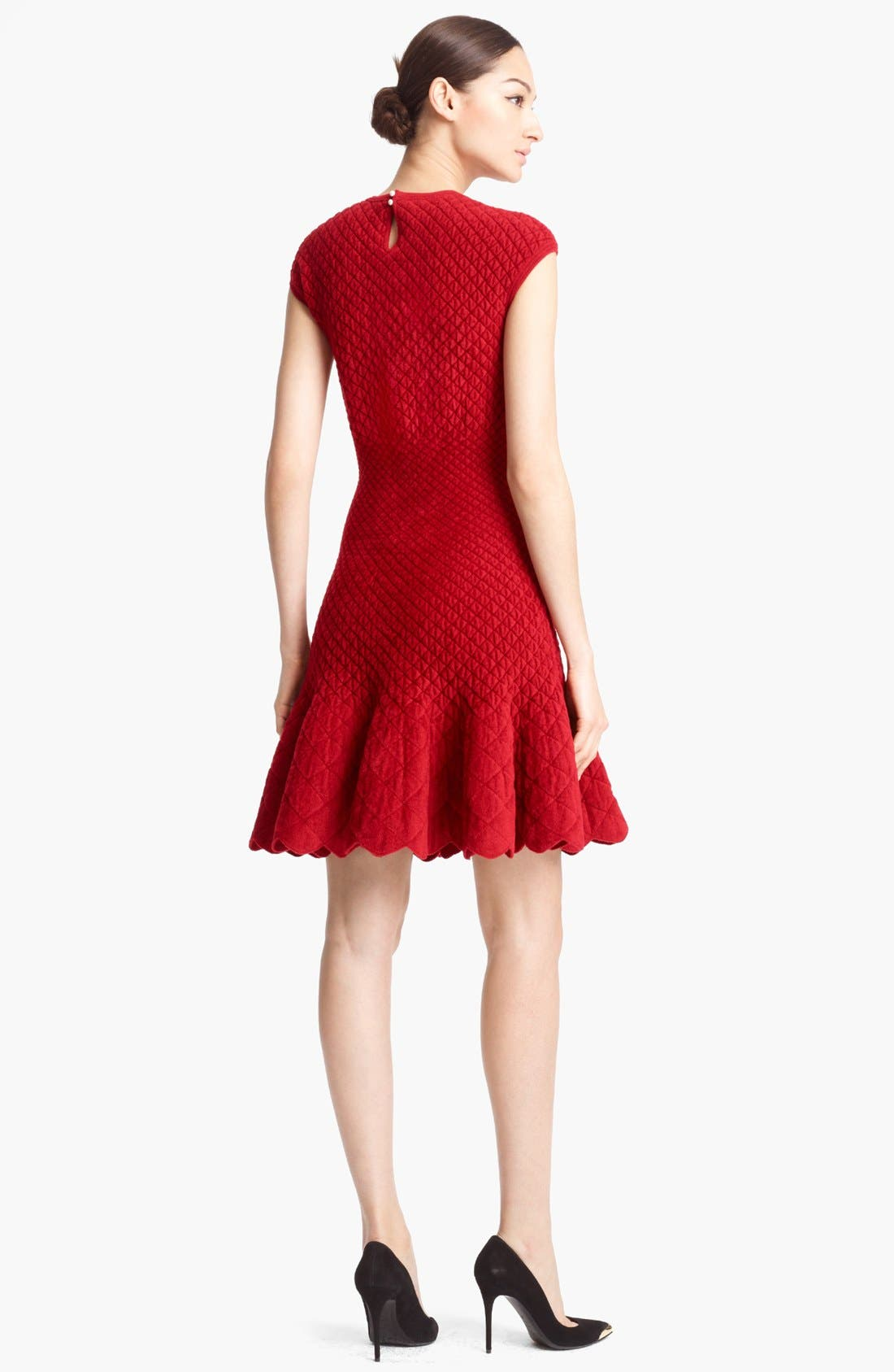 Alternate Image 2  - Alexander McQueen Quilted Jacquard Knit Dress