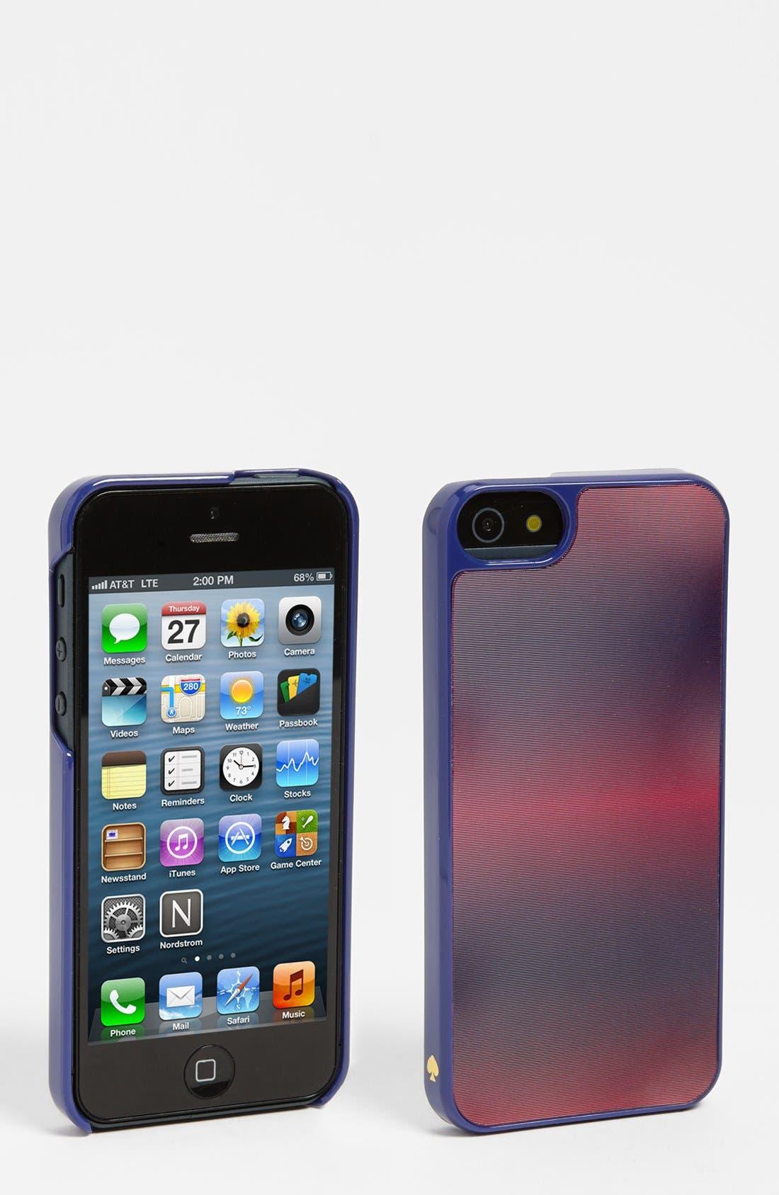 Alternate Image 1 Selected - kate spade new york 'moody lenticular' iPhone 5 & 5S case