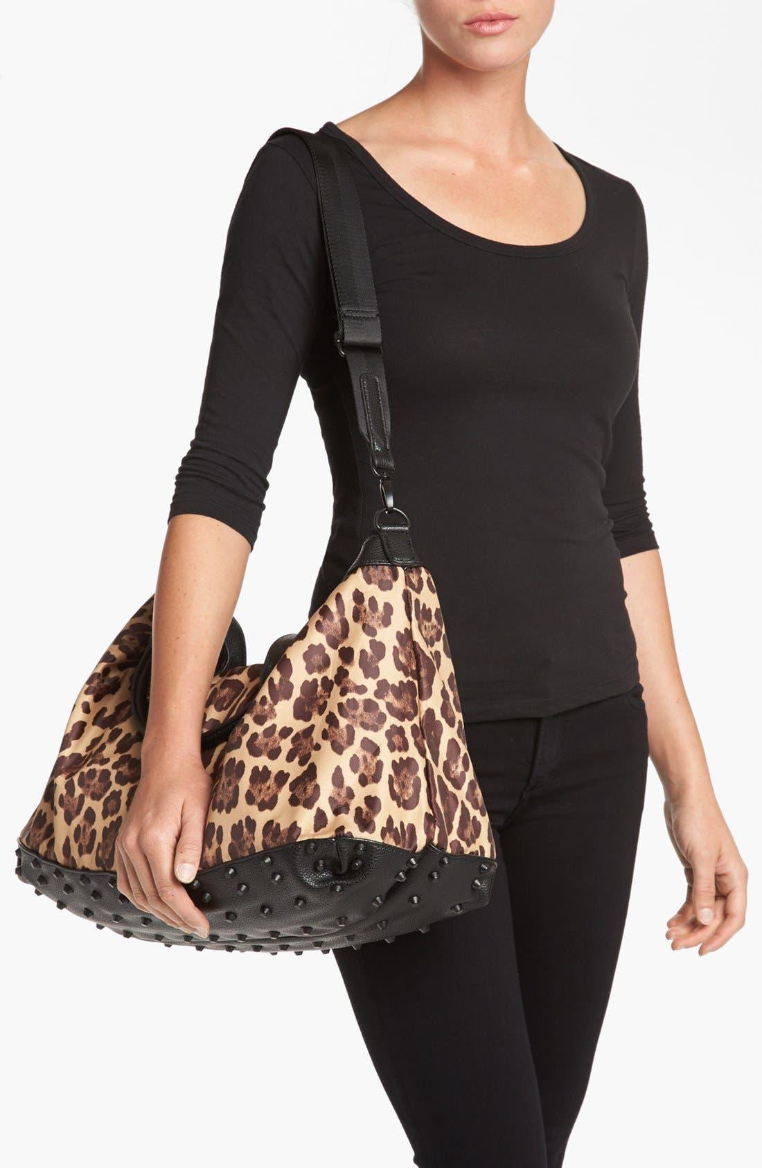 Alternate Image 2  - Steven by Steve Madden Leopard Print Duffel Bag