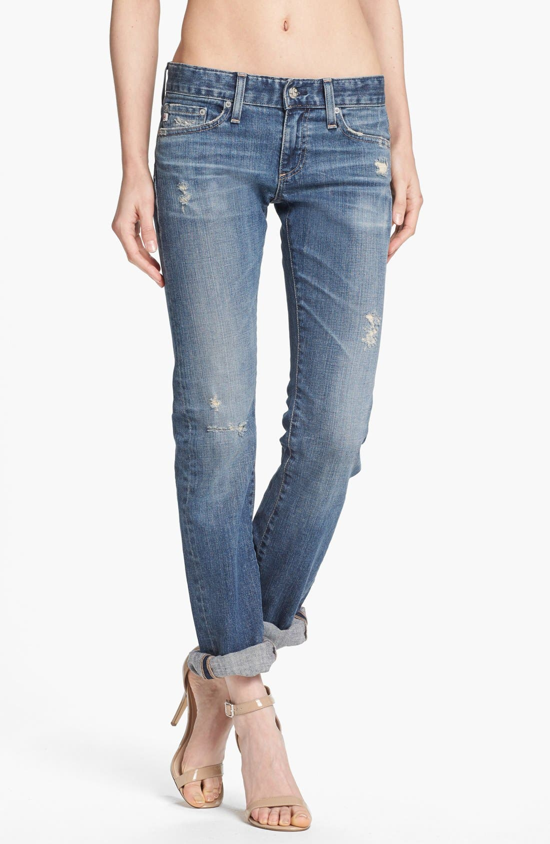 'The Tomboy' Relaxed Straight Leg Jeans,                             Main thumbnail 1, color,                             17 Year Salvation