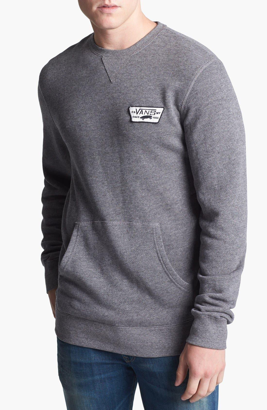Alternate Image 1 Selected - Vans 'Garnet' Crewneck Sweatshirt