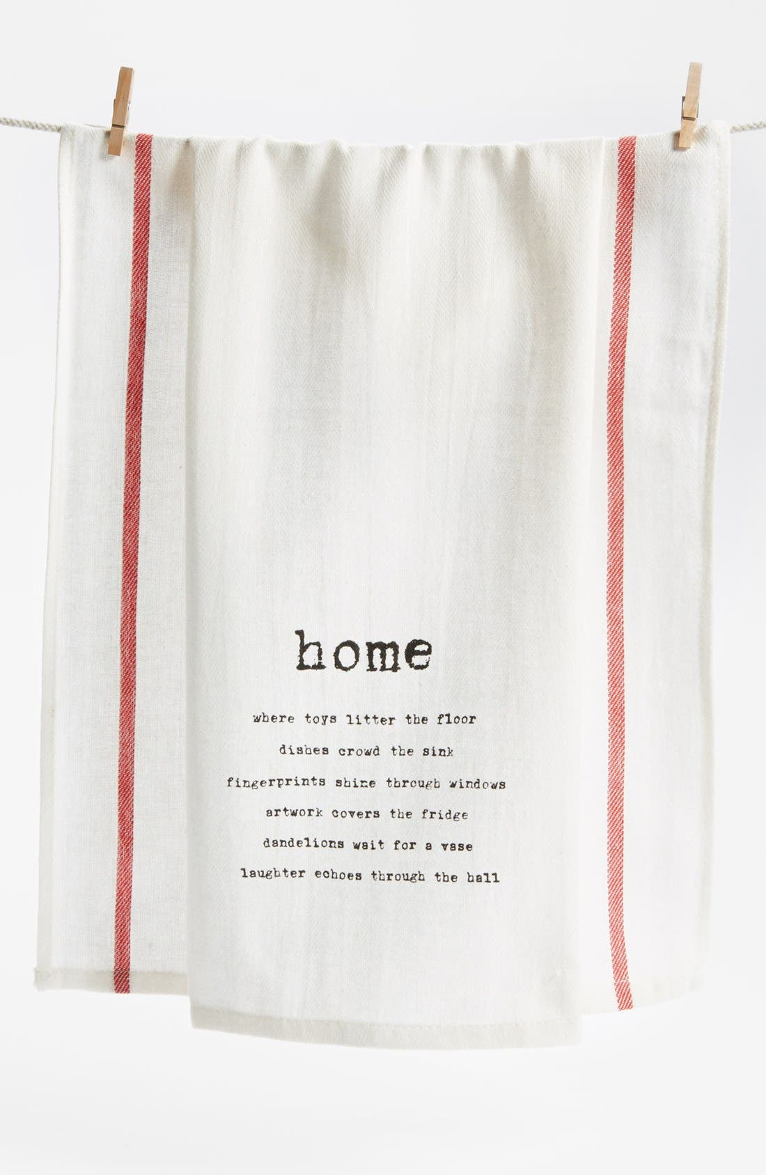 Alternate Image 1 Selected - Second Nature by Hand 'Home' Towel (2 for $16)