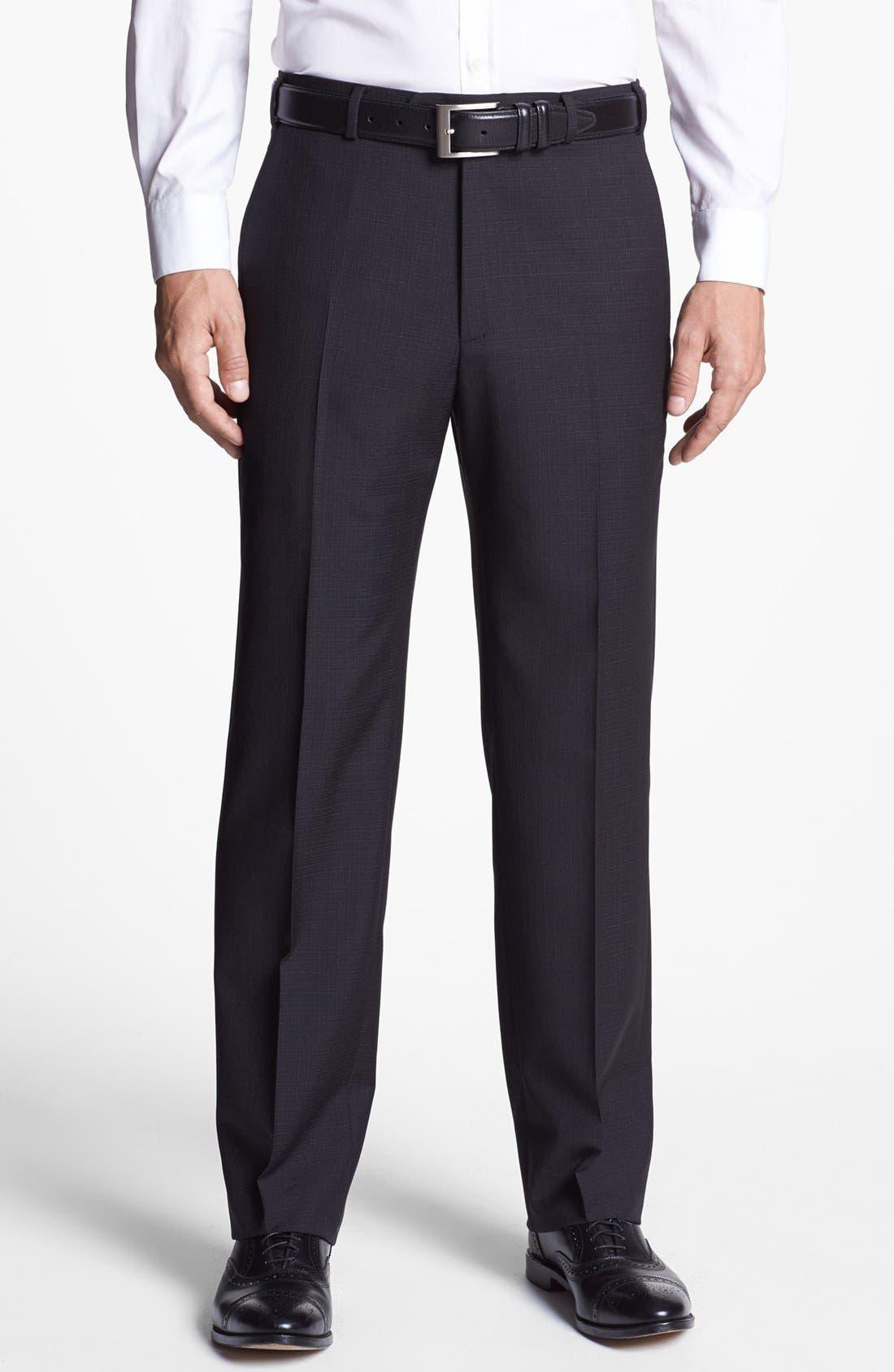 Main Image - Zanella 'Devon' Flat Front Trousers