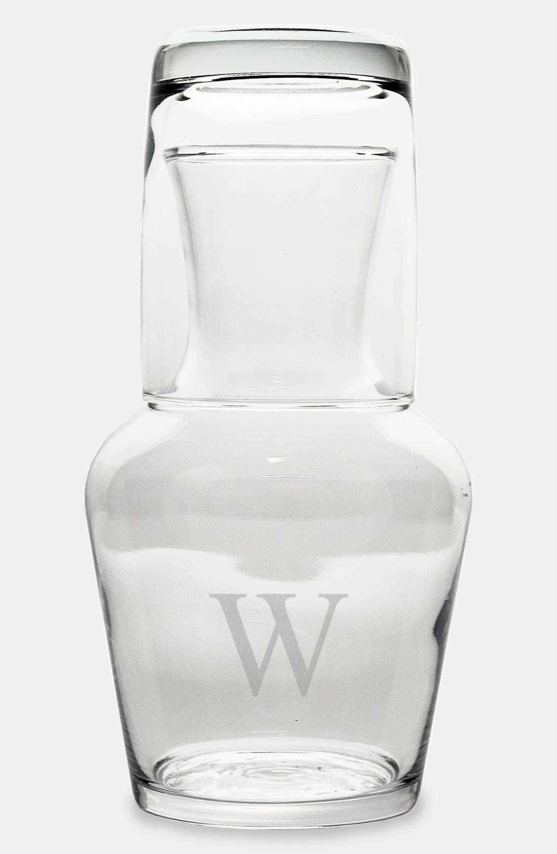 Alternate Image 2  - Cathy's Concepts Monogram Bedside Water Carafe Set