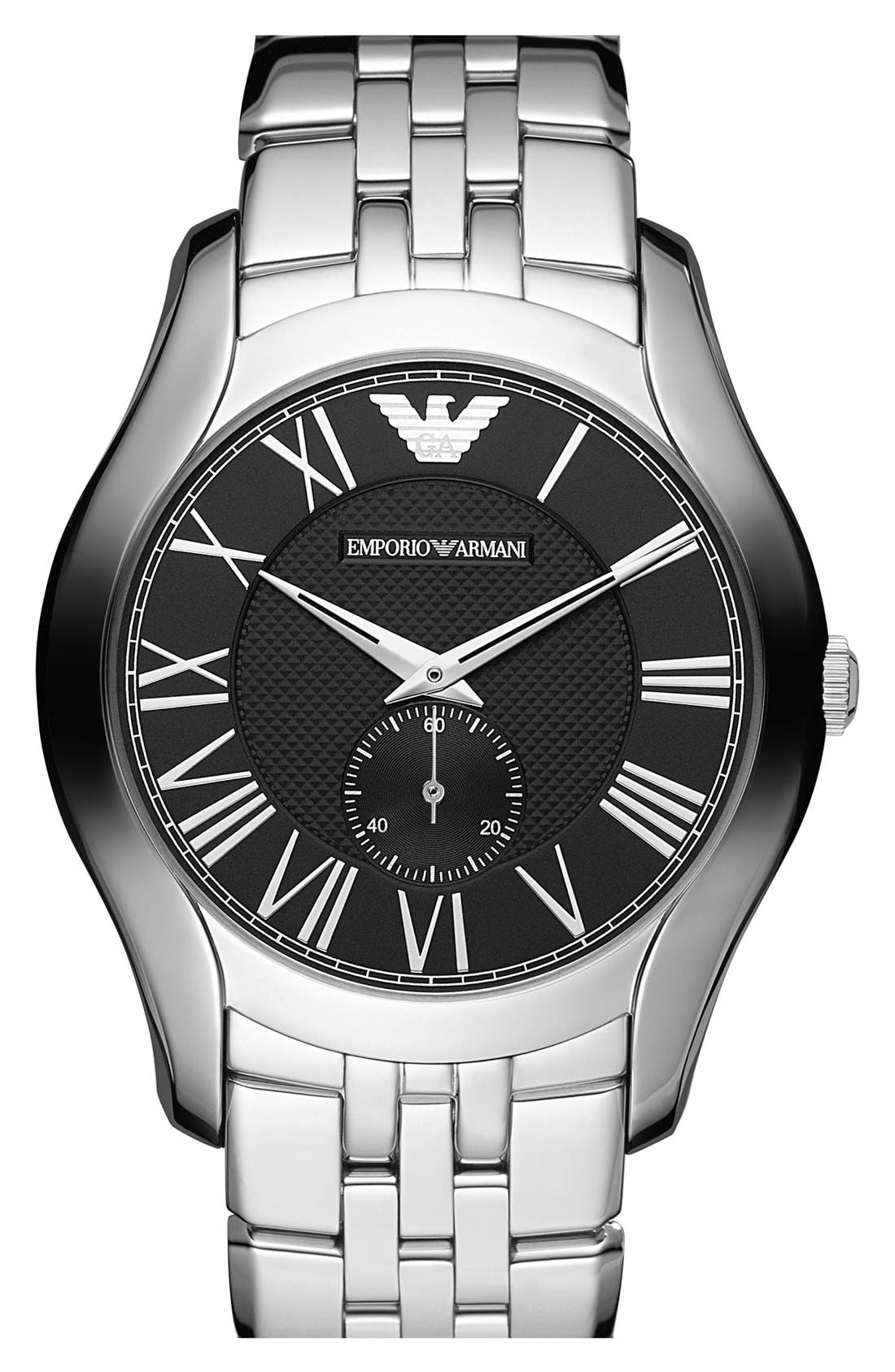 Alternate Image 1 Selected - Emporio Armani Round Bracelet Watch, 43mm