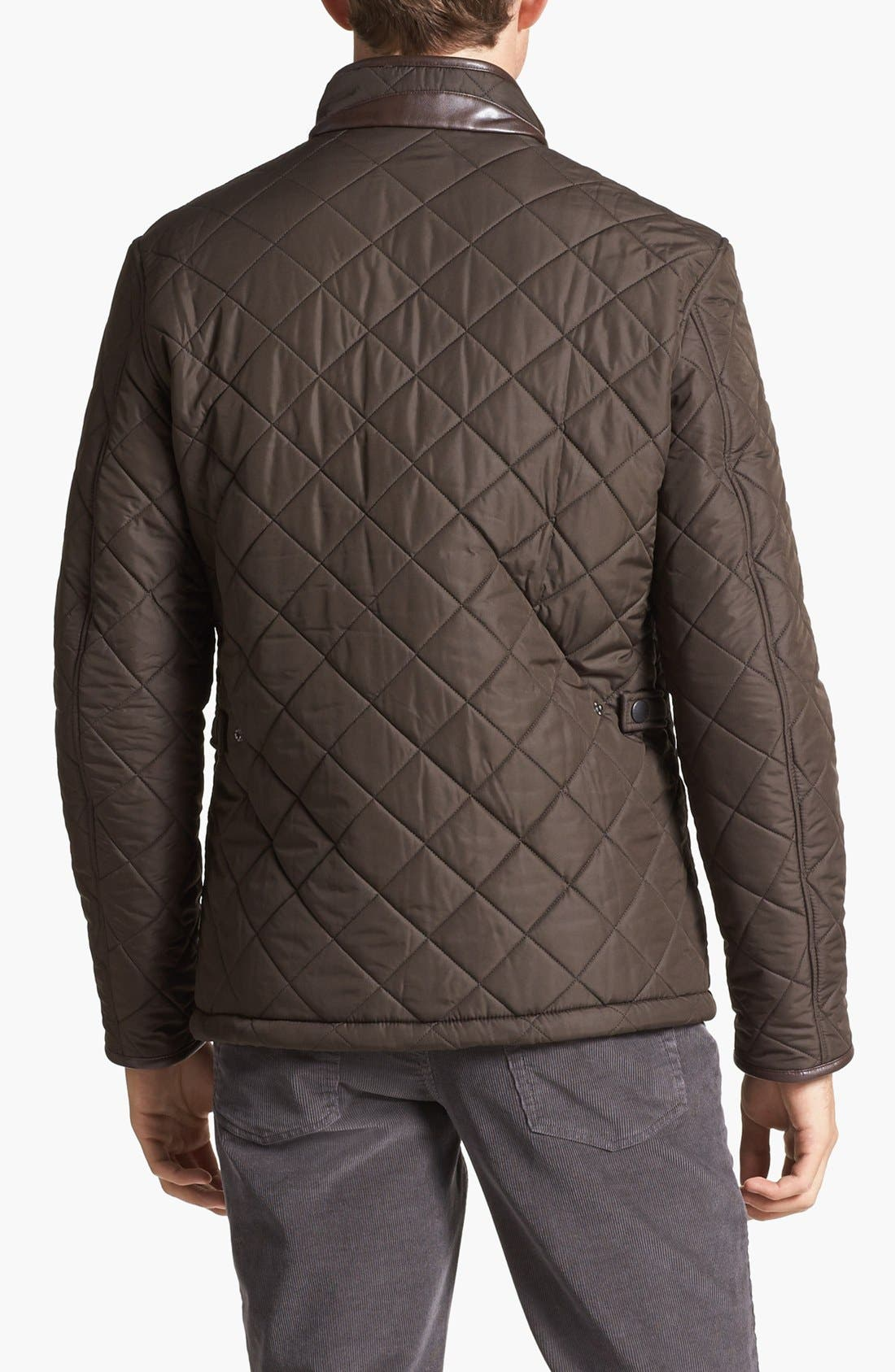 'Powell' Regular Fit Quilted Jacket,                             Alternate thumbnail 2, color,                             Olive