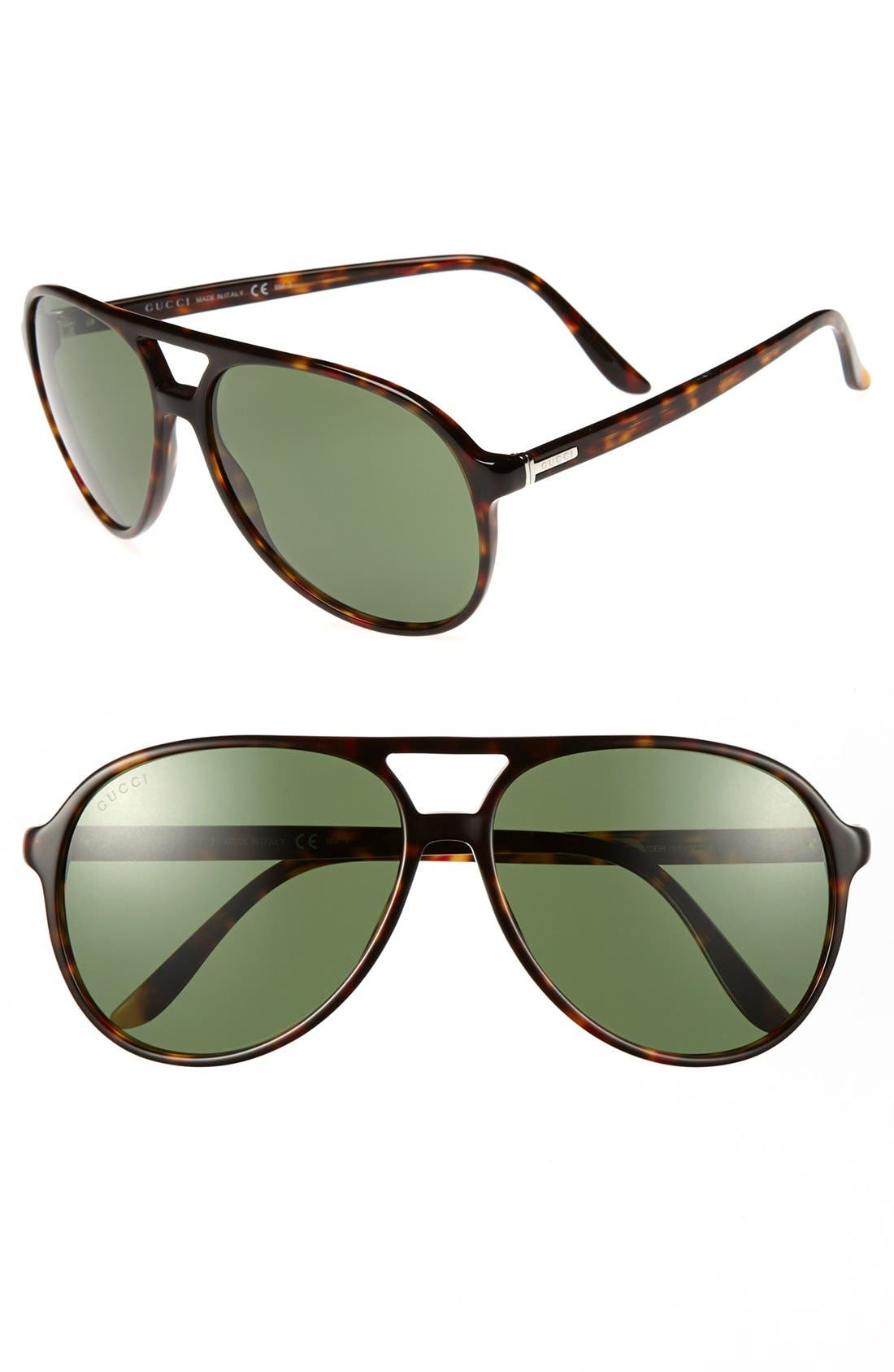Main Image - Gucci 59mm Aviator Sunglasses
