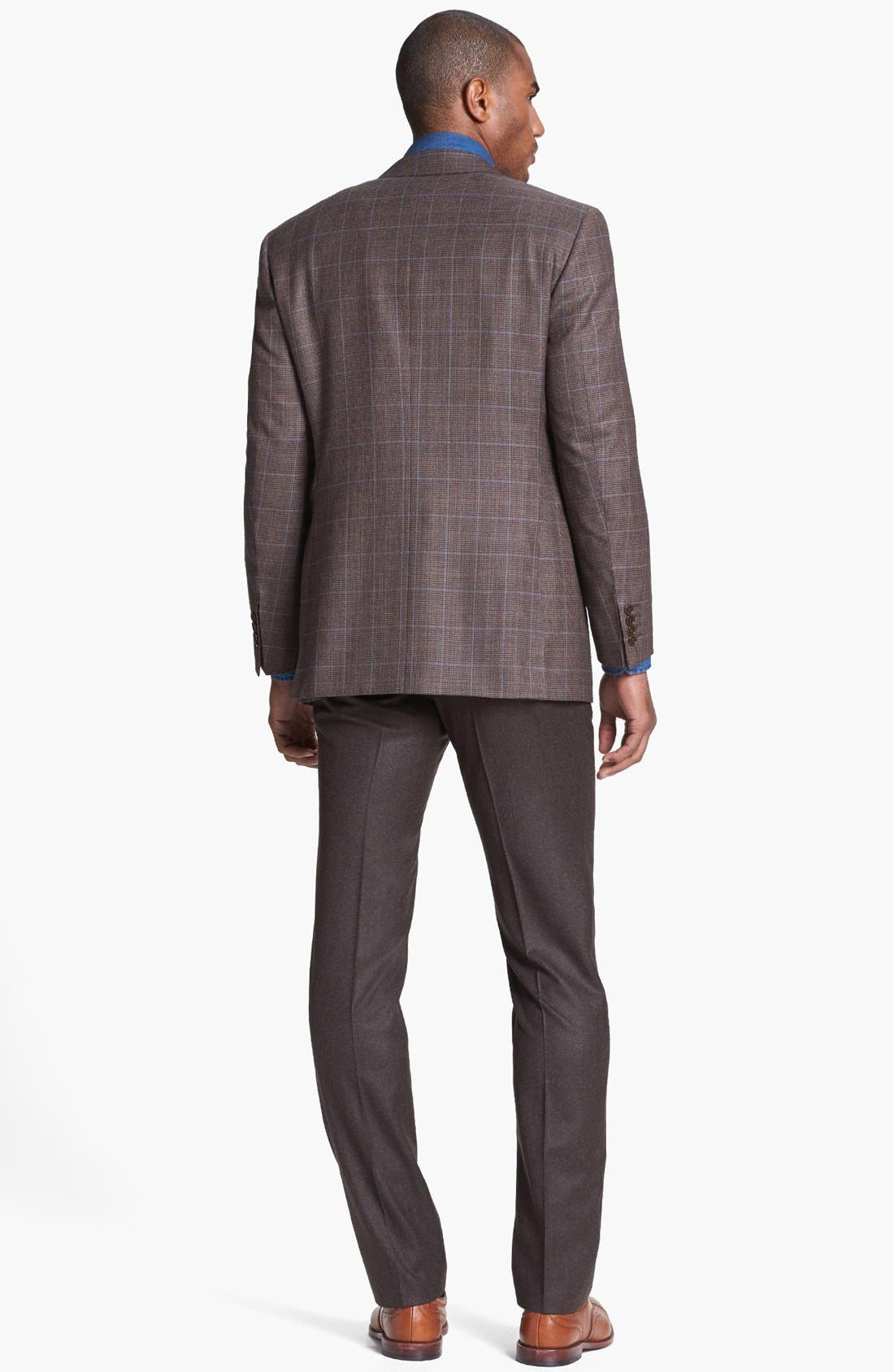Alternate Image 5  - Canali Classic Fit Check Sportcoat