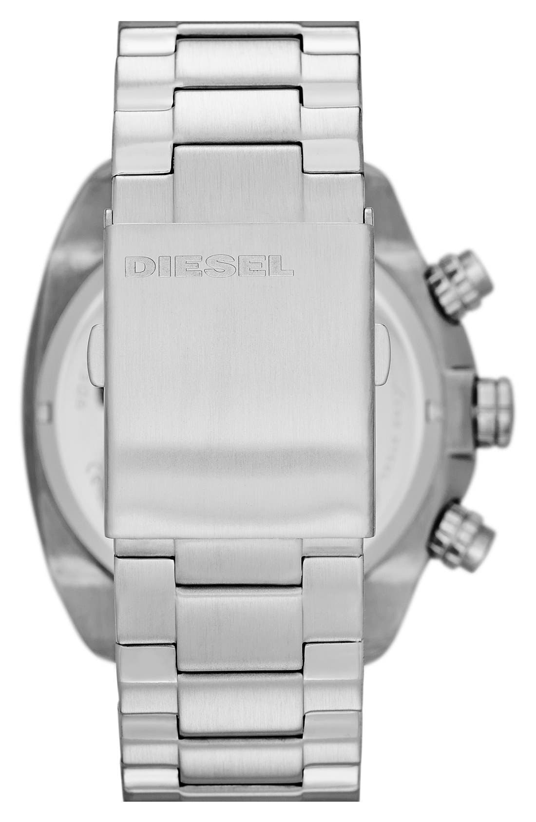 Alternate Image 2  - DIESEL® 'Overflow' Chronograph Bracelet Watch, 46mm x 49mm