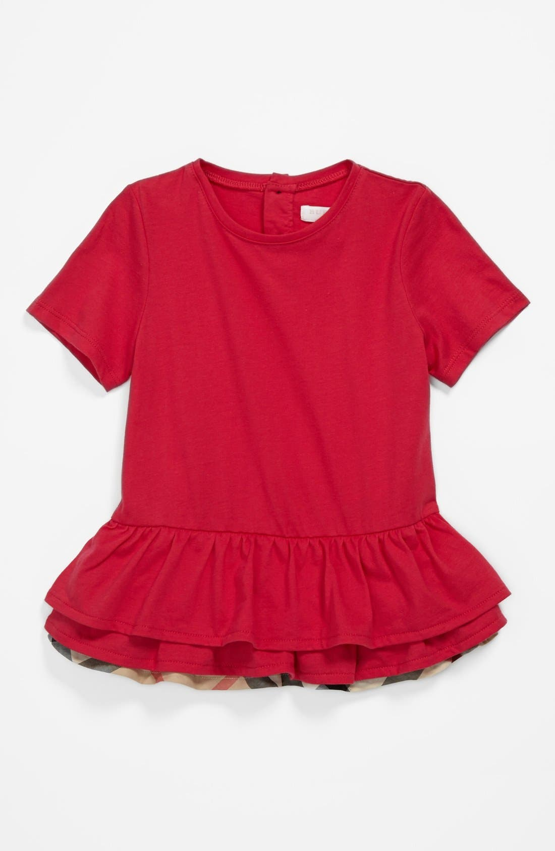 Alternate Image 1 Selected - Burberry 'Mini Tyna' Tiered Ruffle Hem Top (Baby Girls)