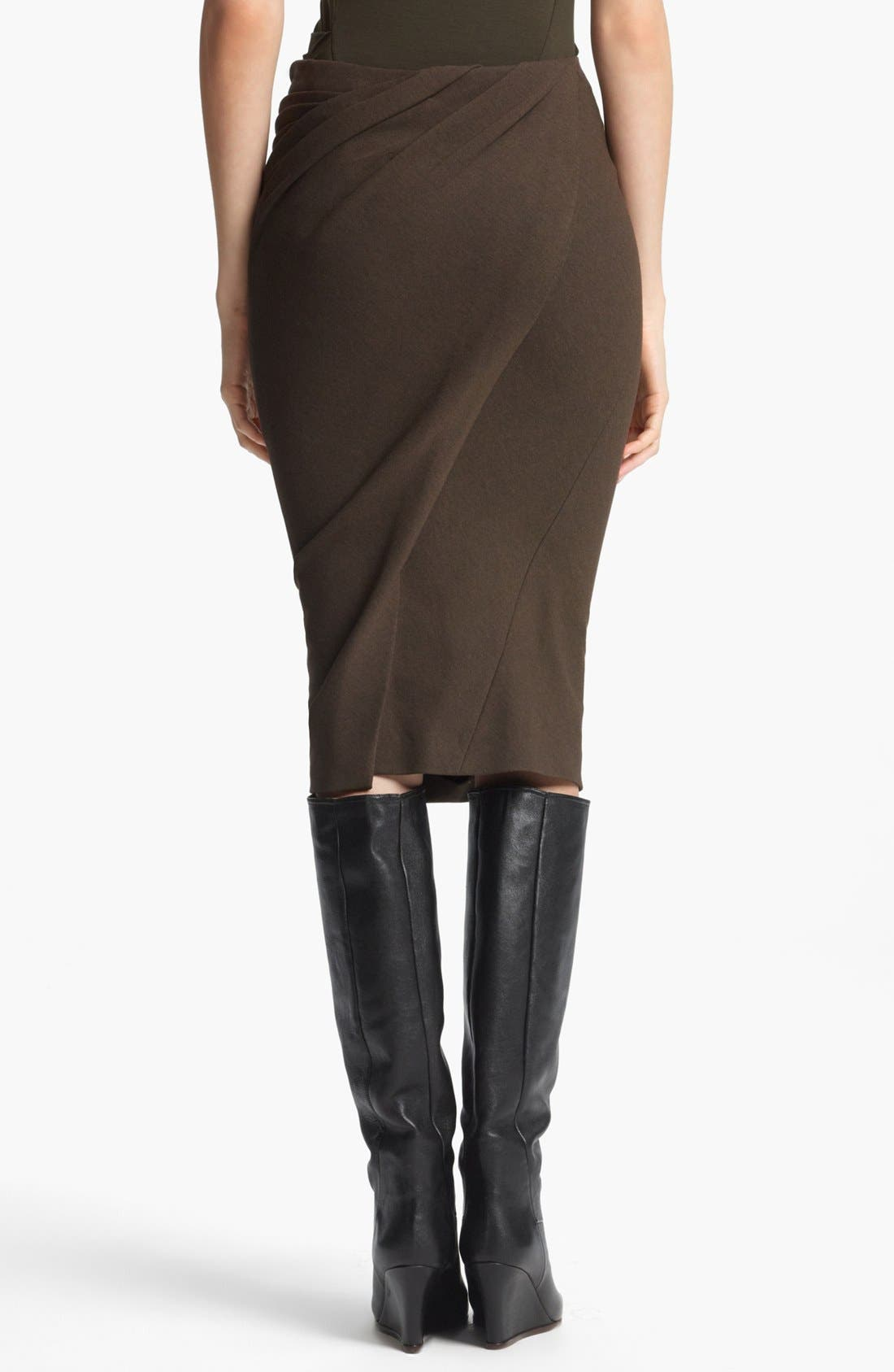 Alternate Image 2  - Donna Karan Collection 'Sculpted Body' Draped Jersey Skirt