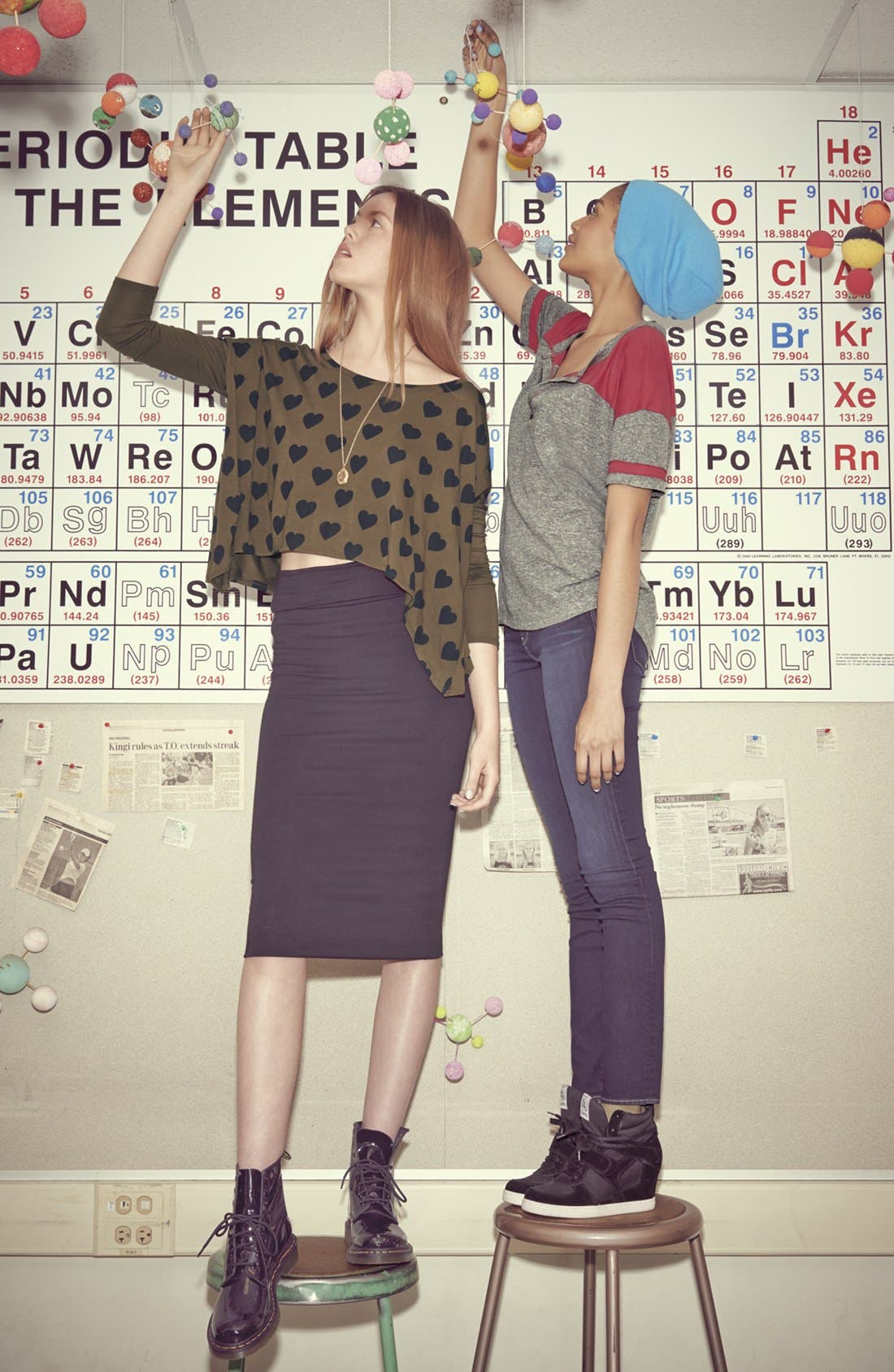 Main Image - C+B Tee & Frenchi® Skirt; Project Social T Tee & Articles of Society Jeans