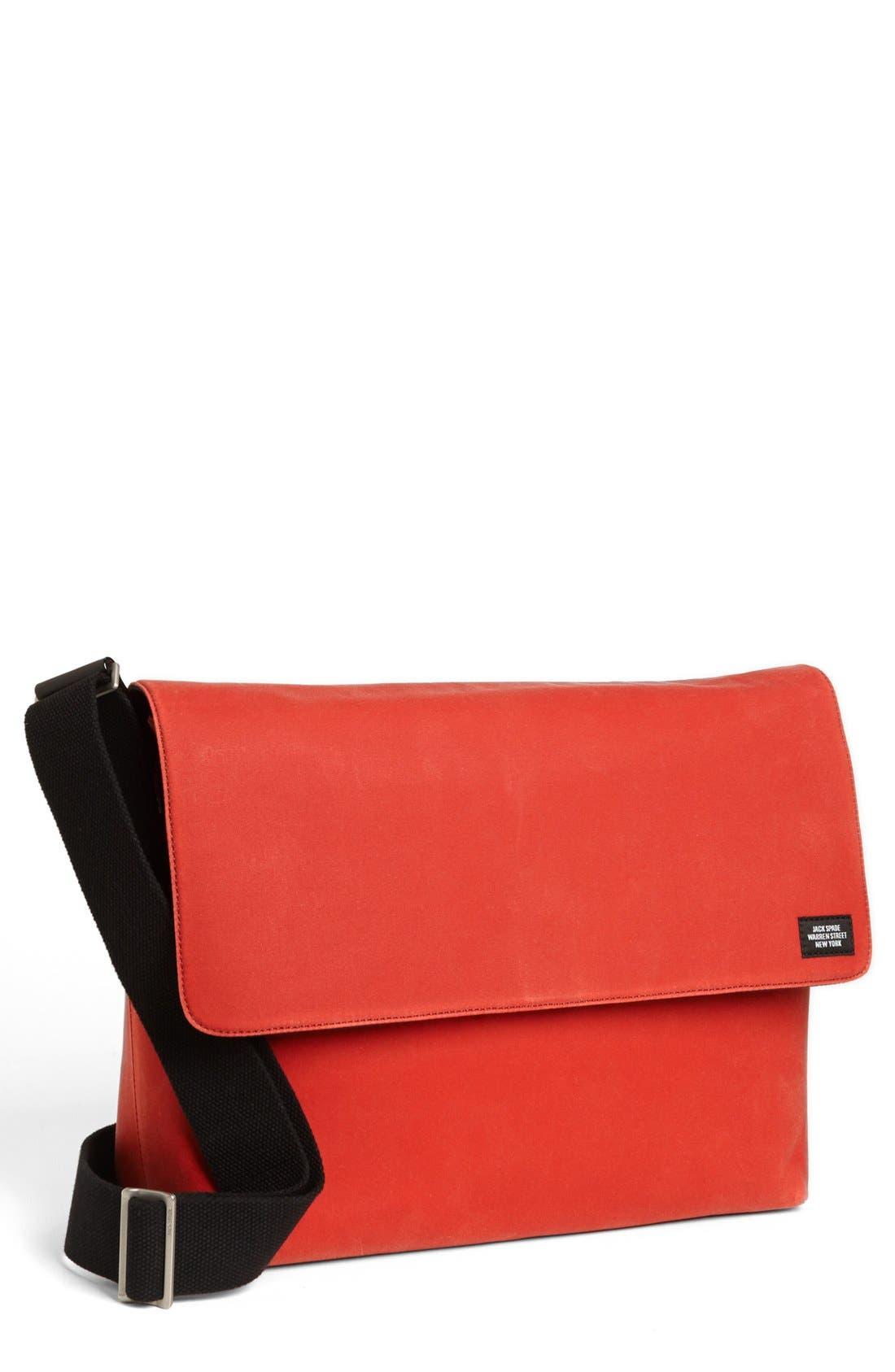 Main Image - Jack Spade 'Waxwear' Laptop Field Bag