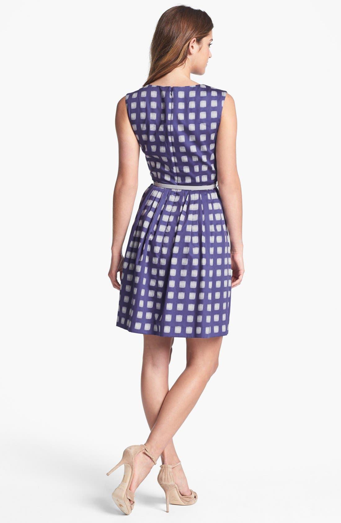 Alternate Image 2  - Ivy & Blu Print Cotton Dress (Regular & Petite)