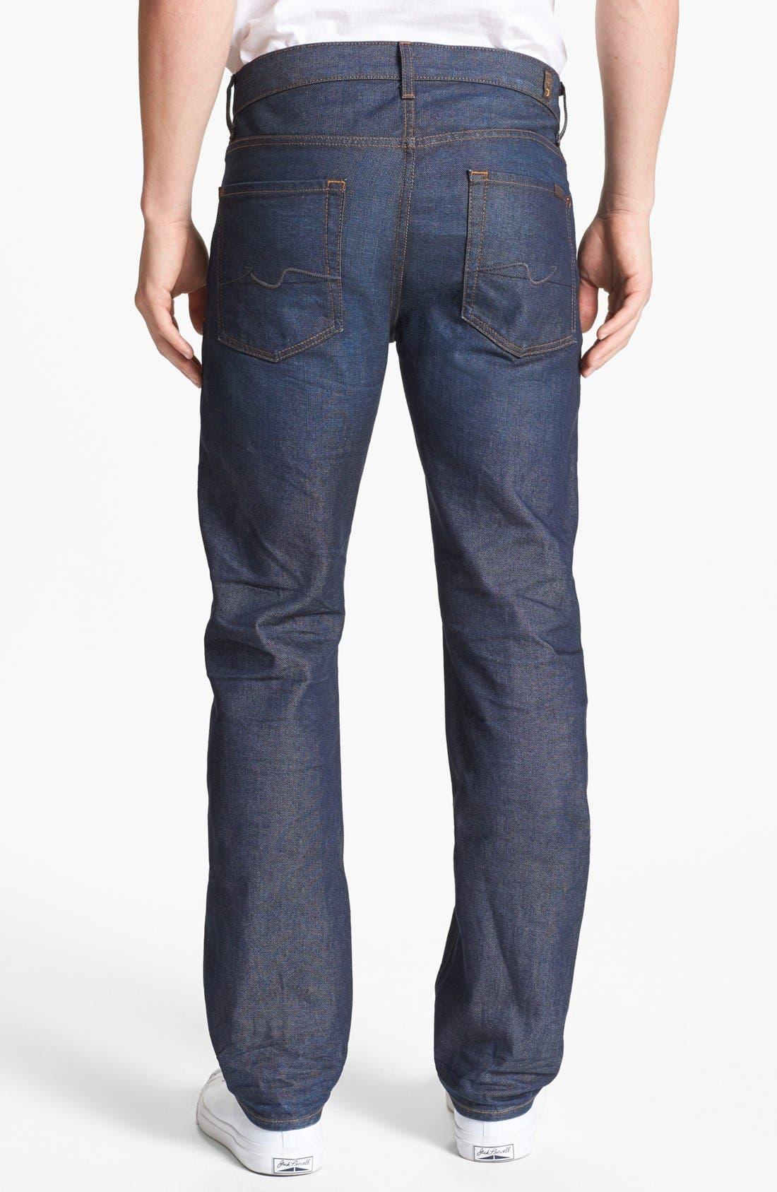 Alternate Image 1 Selected - 7 For All Mankind® 'Slimmy' Slim Fit Jeans (Copper River)