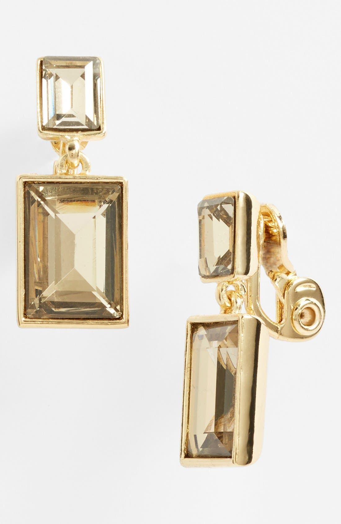 Alternate Image 1 Selected - Anne Klein Drop Clip Earrings