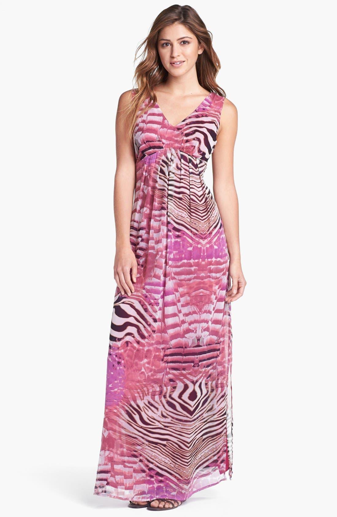 Main Image - Presley Skye Print Silk Chiffon Maxi Dress