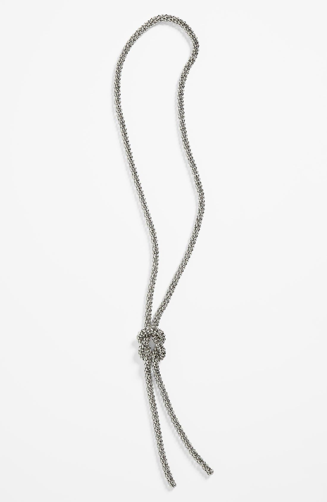 Main Image - Carole Snake Chain Lariat Necklace (Juniors)