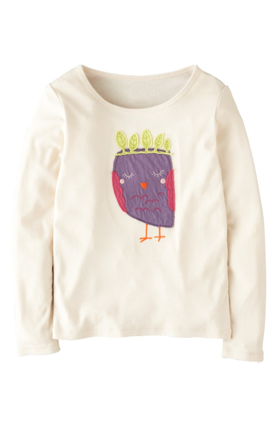 Main Image - Mini Boden 'Animal' Appliqué Tee (Toddler Girls)