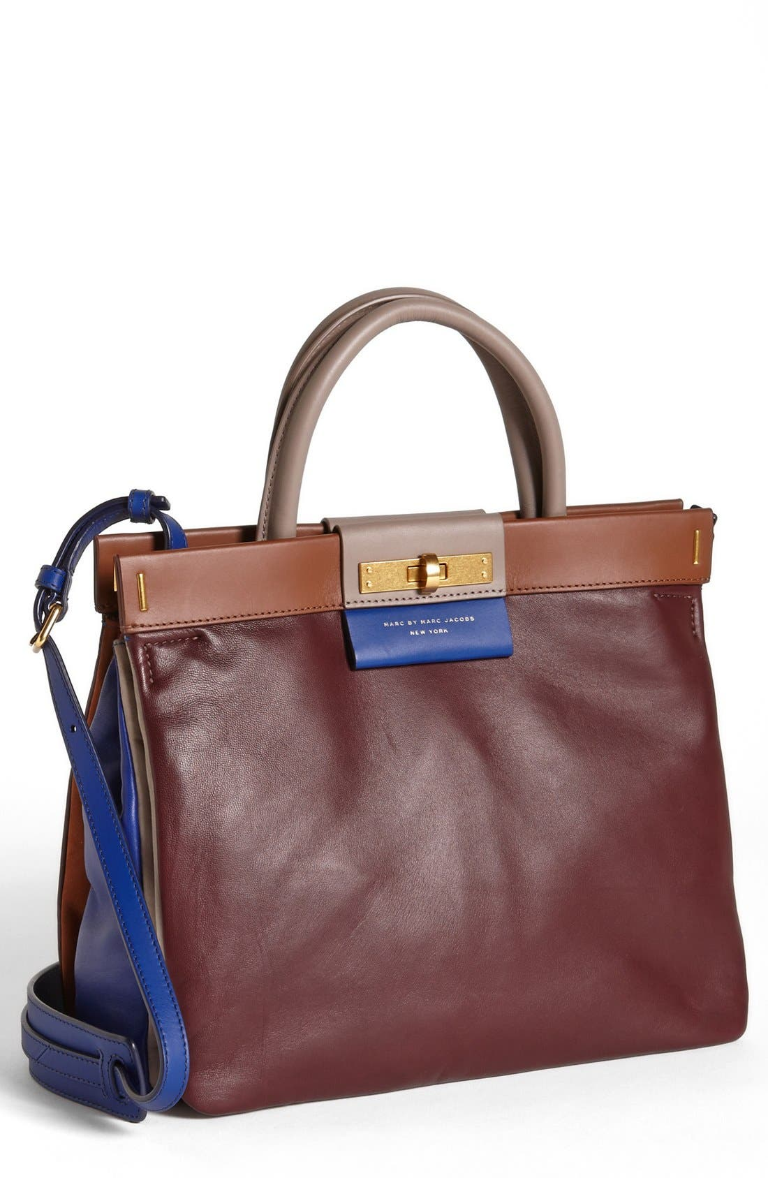 Main Image - MARC BY MARC JACOBS 'East End - Madame Hilli' Colorblocked Satchel