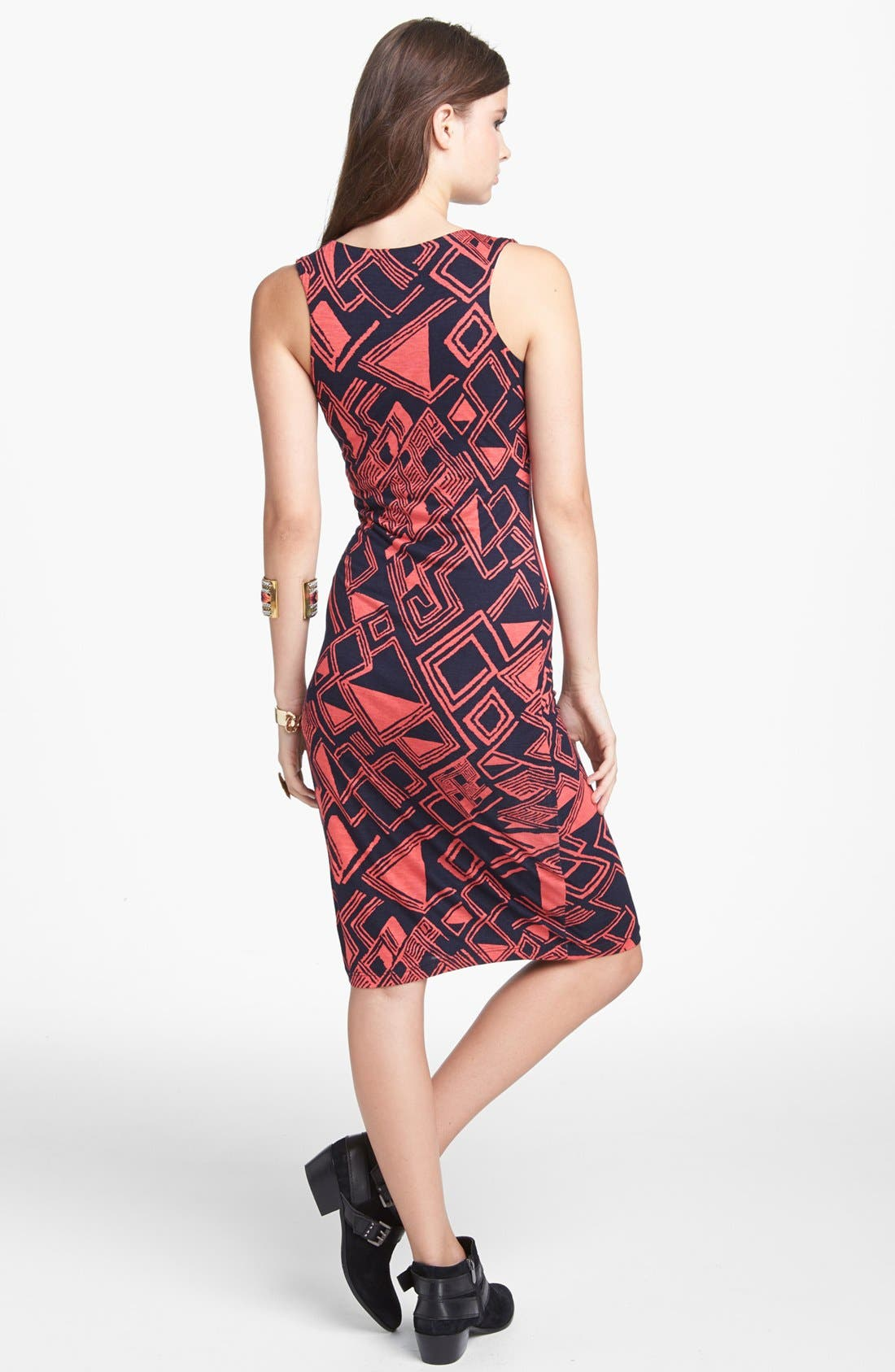 Alternate Image 2  - Minty Geometric Print Body-Con Dress (Juniors) (Online Only)