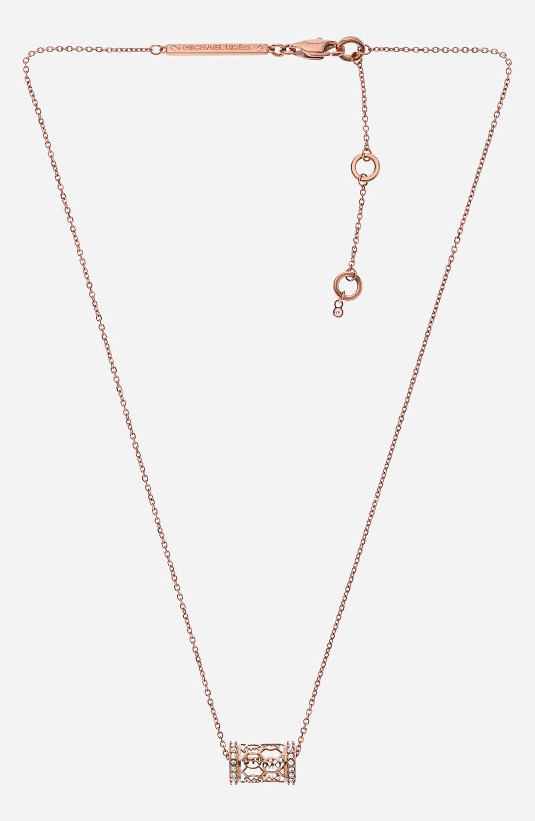 Main Image - Michael Kors 'Monogram' Pendant Necklace