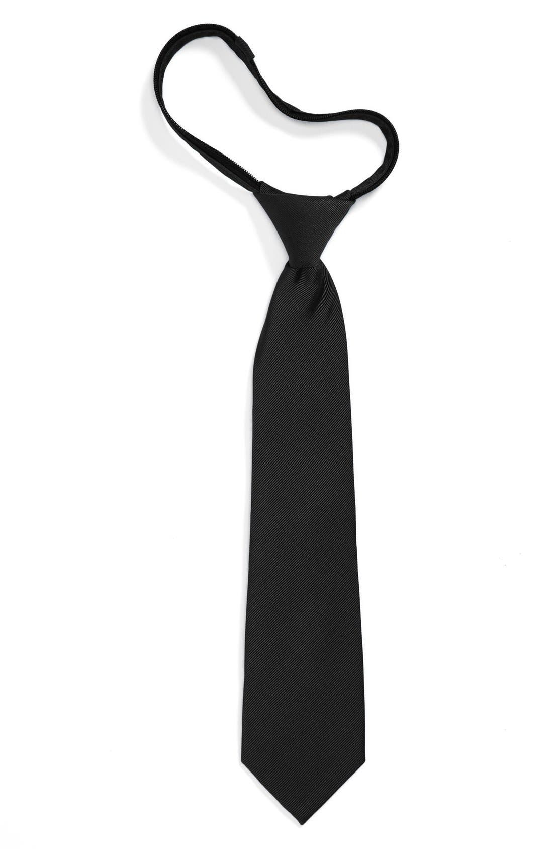 Alternate Image 1 Selected - Nordstrom Silk Zipper Tie (Little Boys & Big Boys)