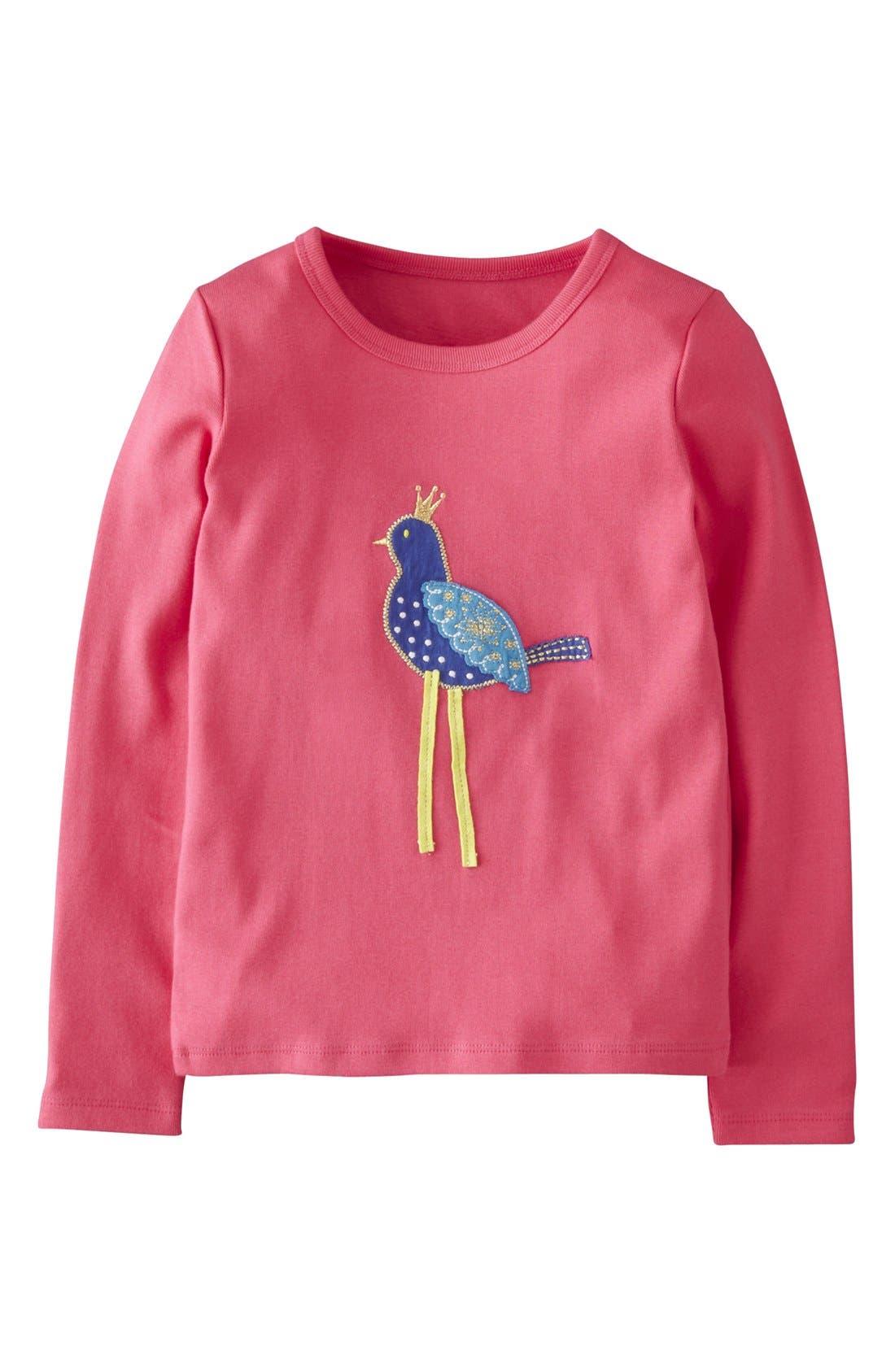 Main Image - Mini Boden Appliqué Long Sleeve Tee (Toddler Girls, Little Girls & Big Girls)