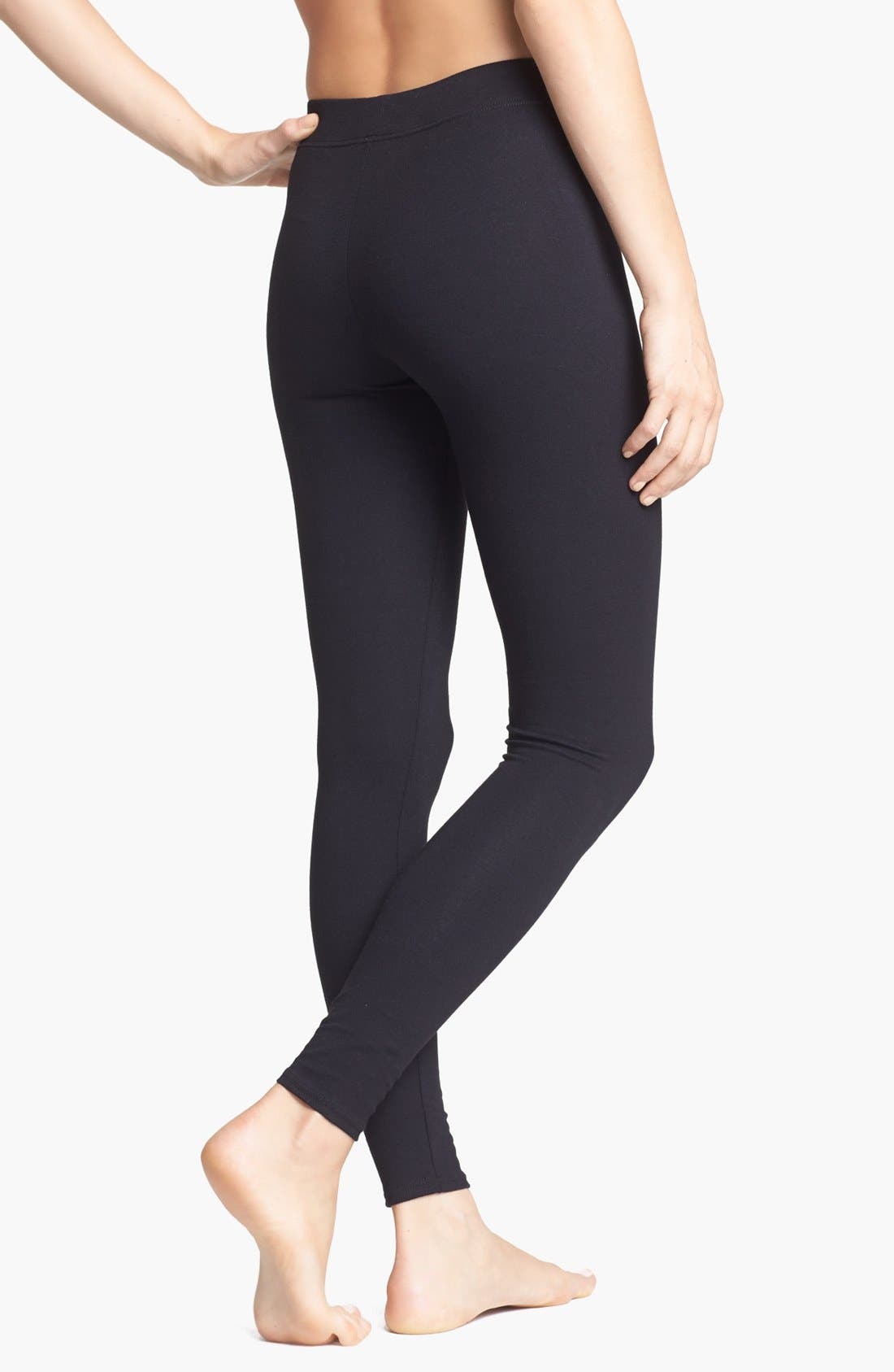 Go-To Leggings,                             Alternate thumbnail 2, color,                             Black