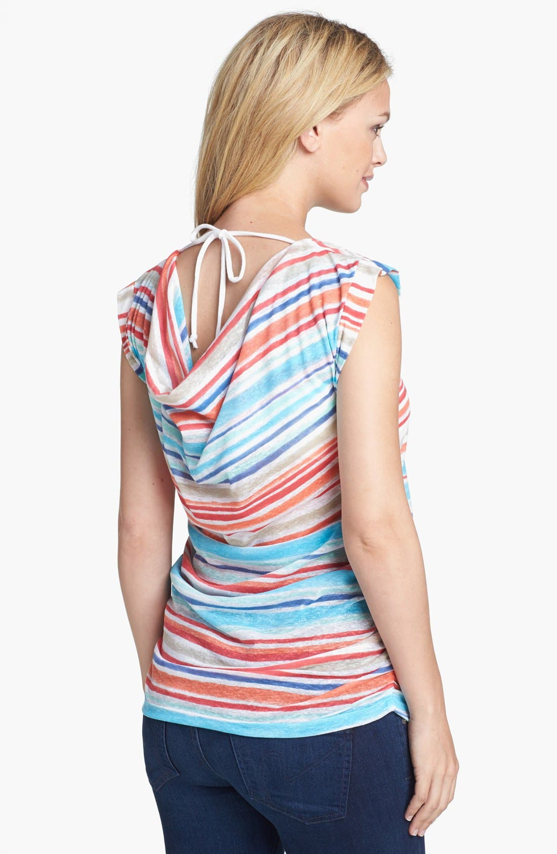 Alternate Image 2  - Japanese Weekend Maternity Tie Back Nursing Top