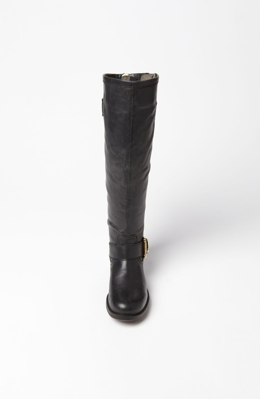'Barton' Boot,                             Alternate thumbnail 3, color,                             Black Leather