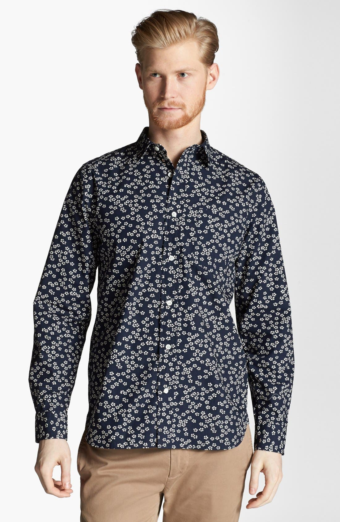Alternate Image 1 Selected - Jack Spade 'Foley' Floral Print Woven Shirt