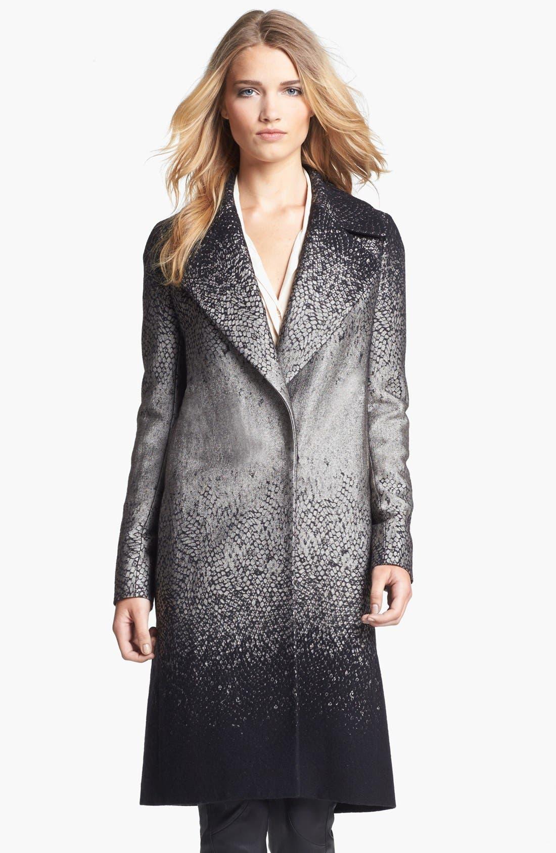 Alternate Image 1 Selected - Diane von Furstenberg 'Nala' Woven Coat