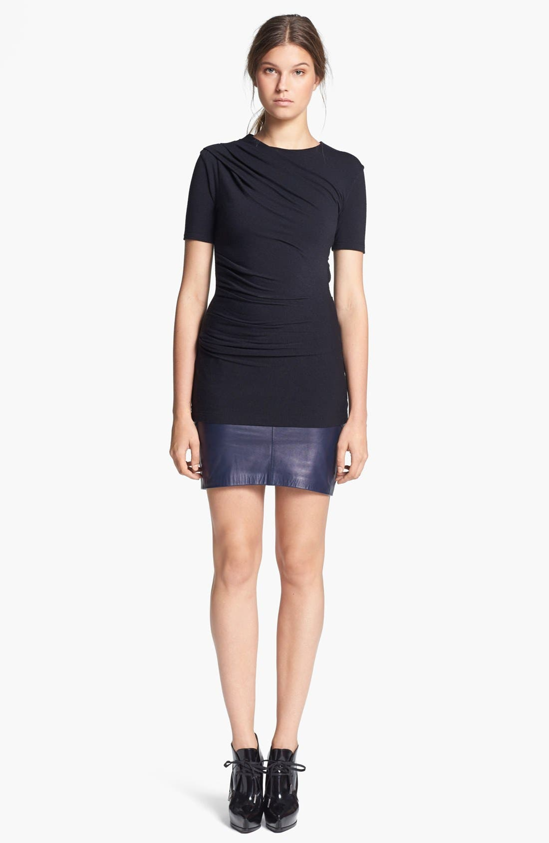 Alternate Image 2  - T by Alexander Wang Gathered Jersey Top