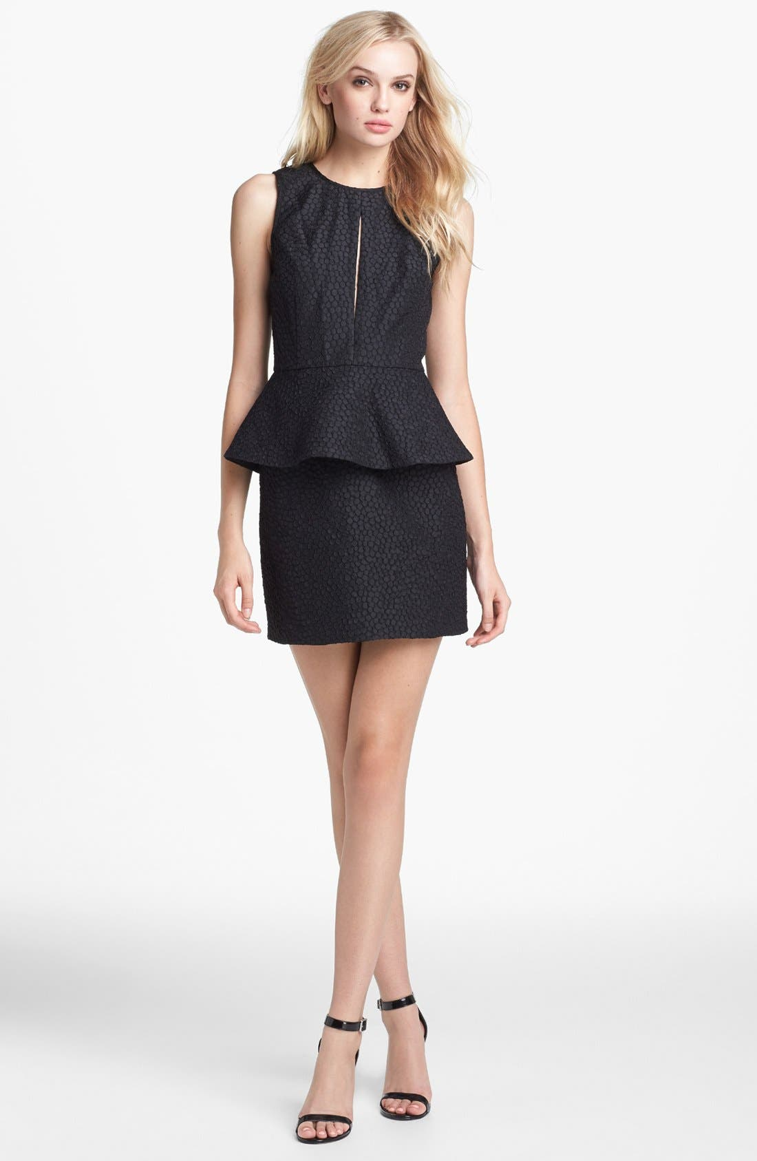 Main Image - Keepsake the Label 'In Your Light' Jacquard Peplum Sheath Dress