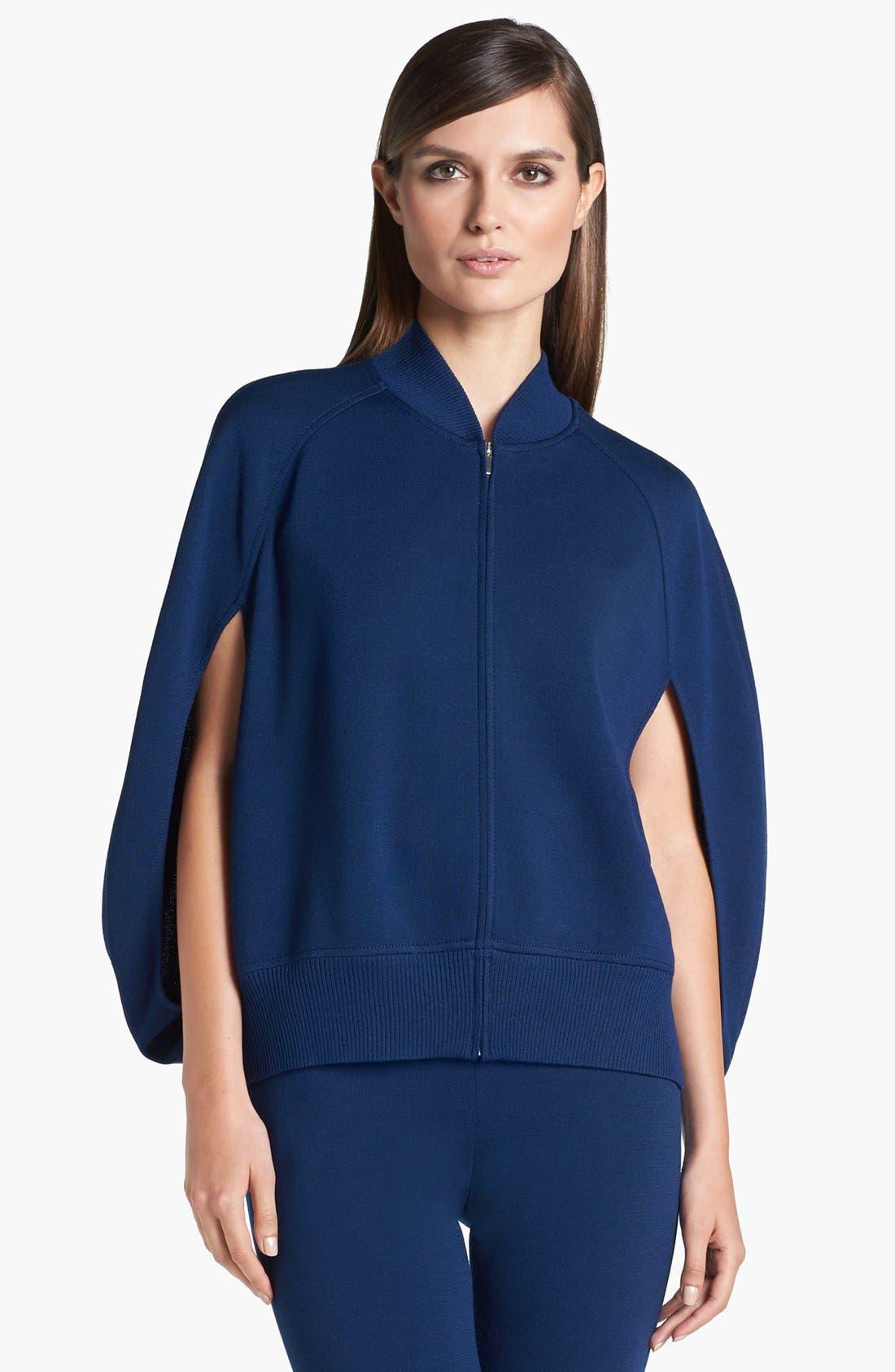 Main Image - St. John Collection Milano Knit Cape Jacket