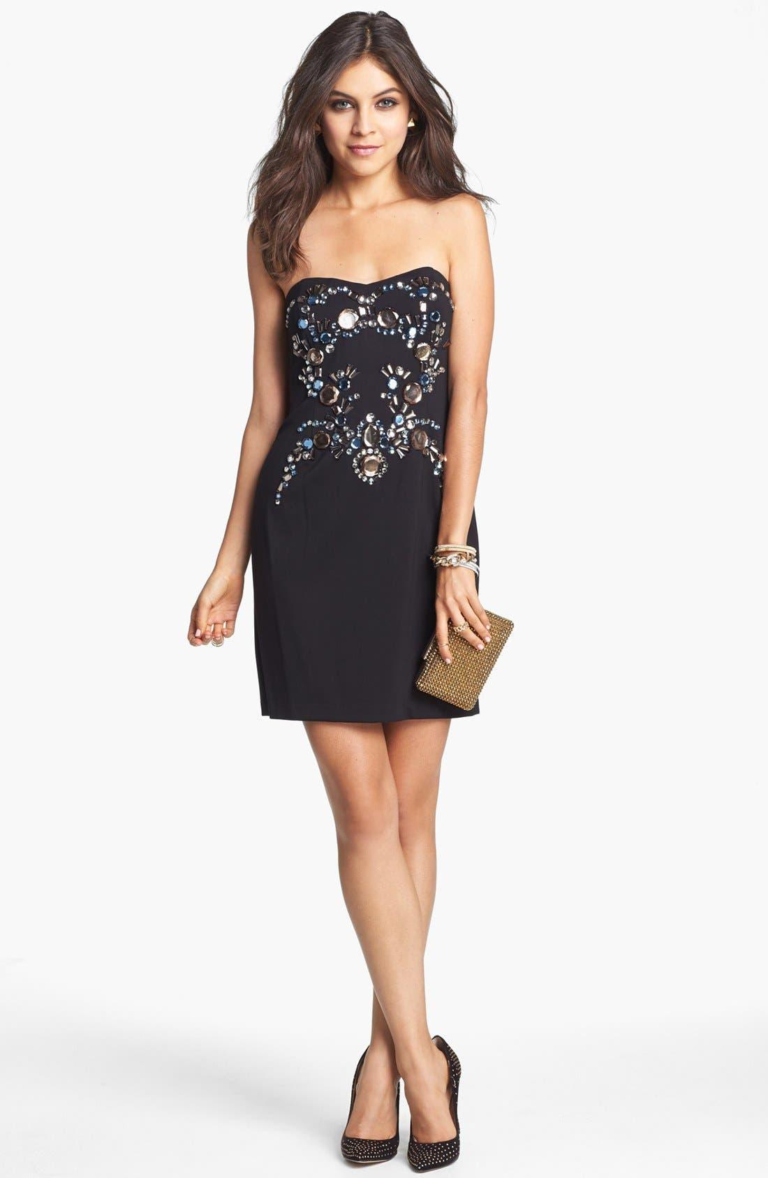 Main Image - Adrianna Papell Embellished Sheath Dress