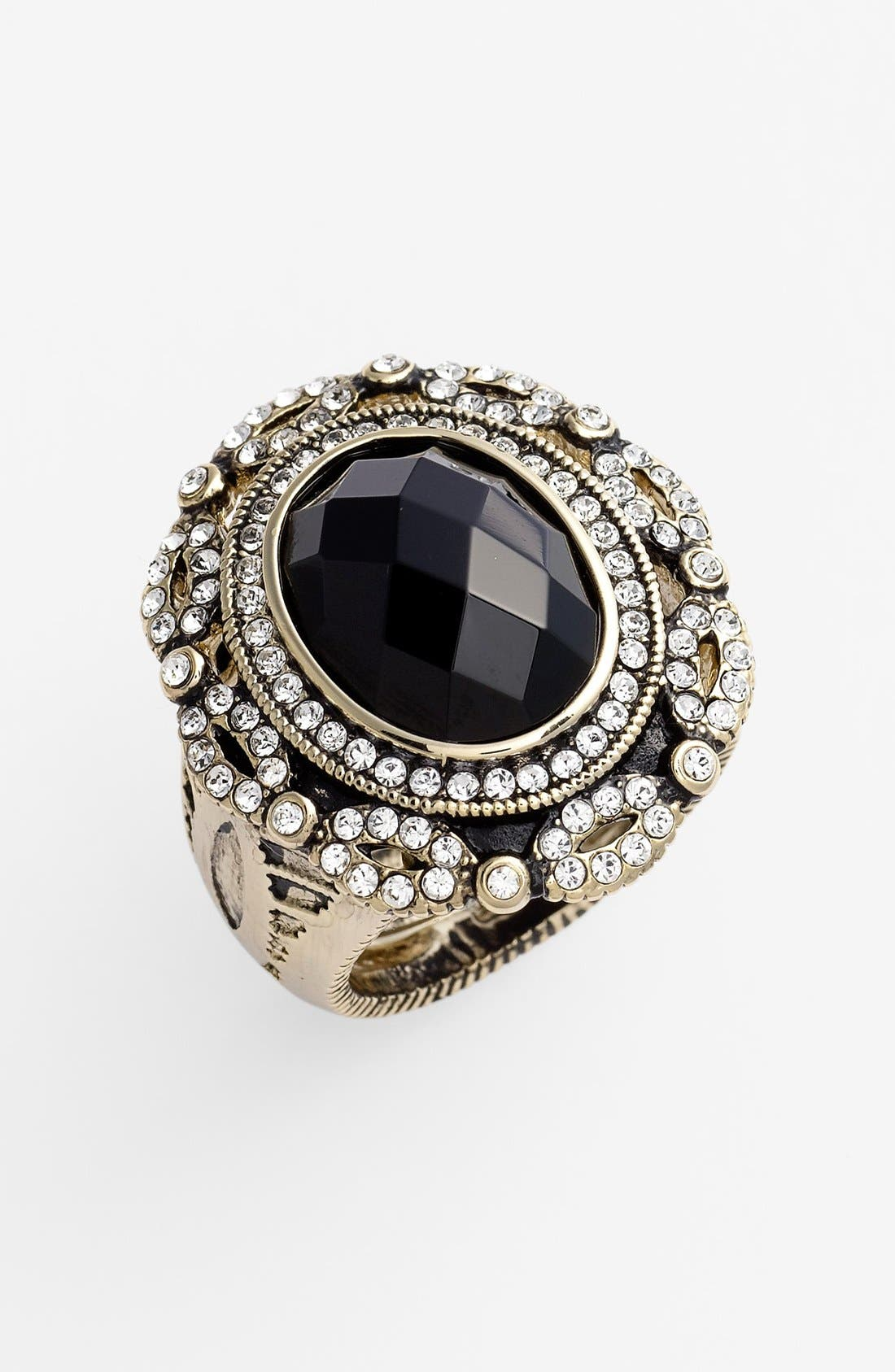 Main Image - Ariella Collection 'Baroque' Stone Shield Ring (Nordstrom Exclusive)
