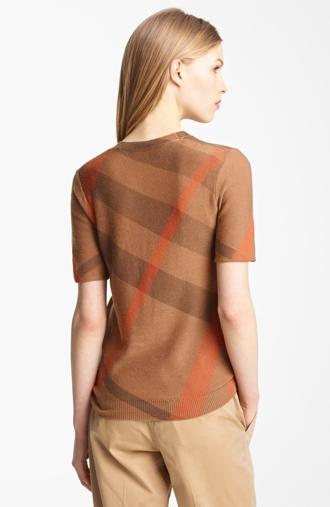 Alternate Image 2  - Burberry Brit Reversible Short Sleeve Sweater