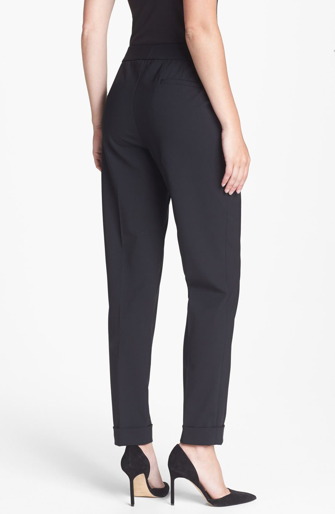 Alternate Image 2  - Lafayette 148 New York Cuffed Slim Pants