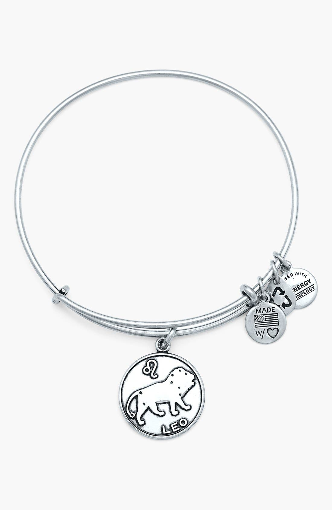 Main Image - Alex and Ani 'Leo' Adjustable Wire Bangle